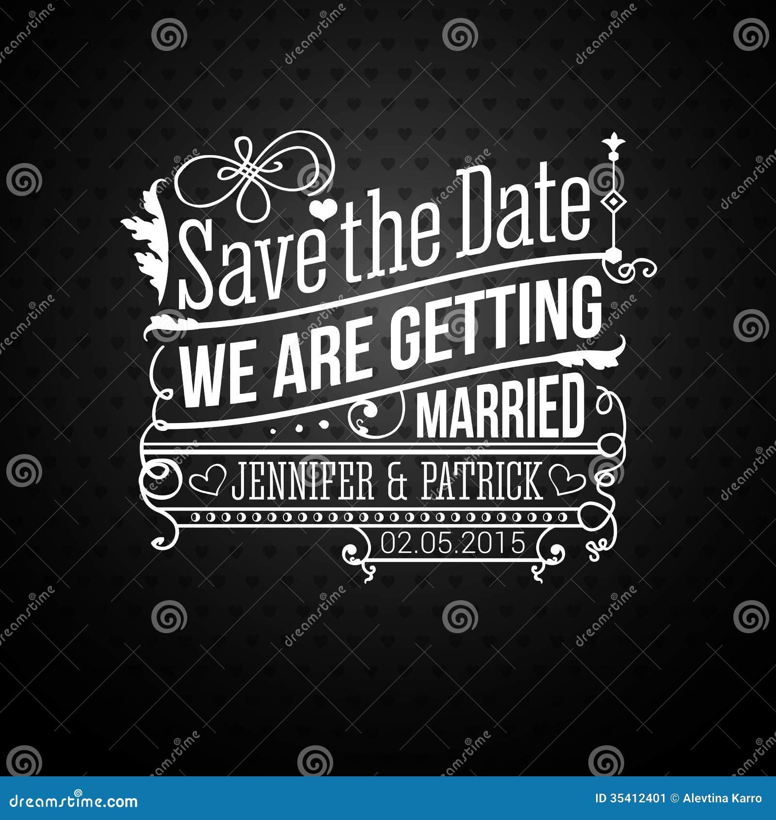 Sparen de datum voor persoonlijke vakantie. Huwelijksuitnodiging. Vector i