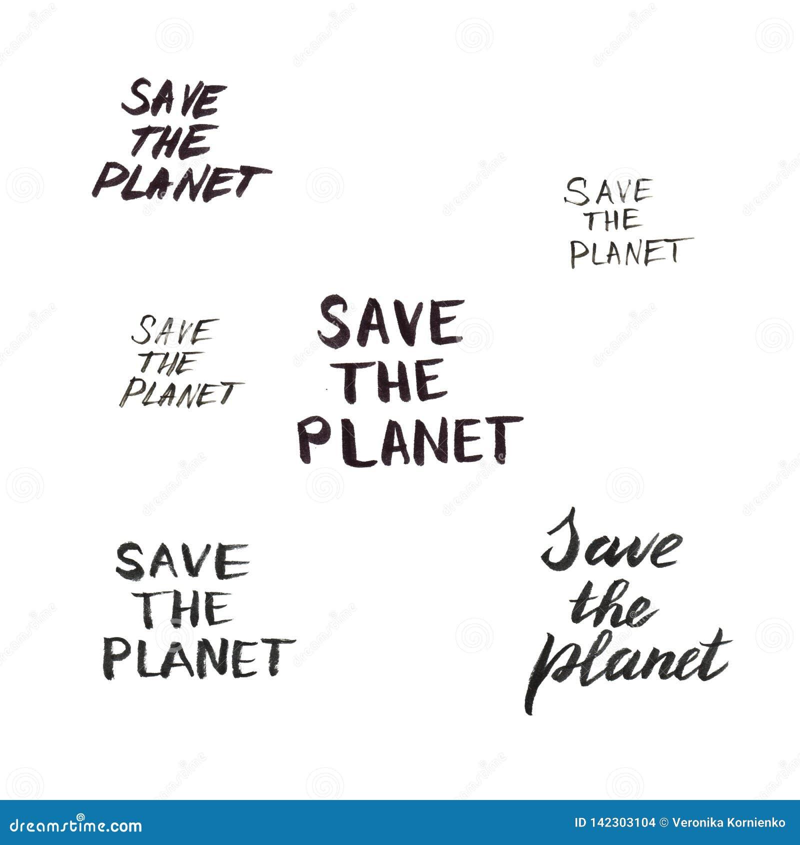 Sparen planeet het geïsoleerde van letters voorzien