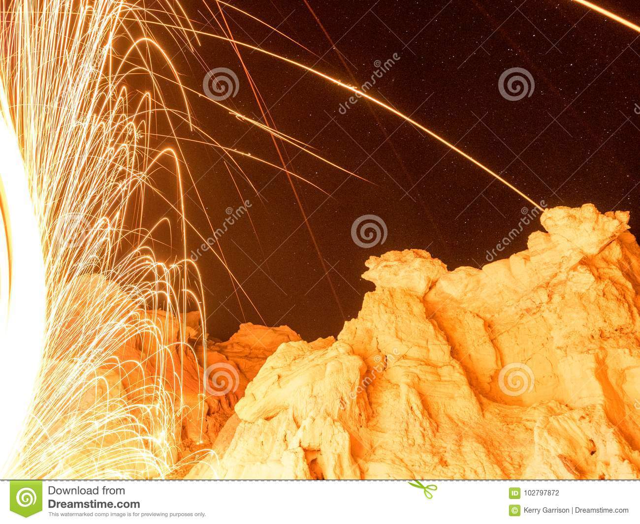 Spark from steel wool stock photo  Image of field, look - 102797872