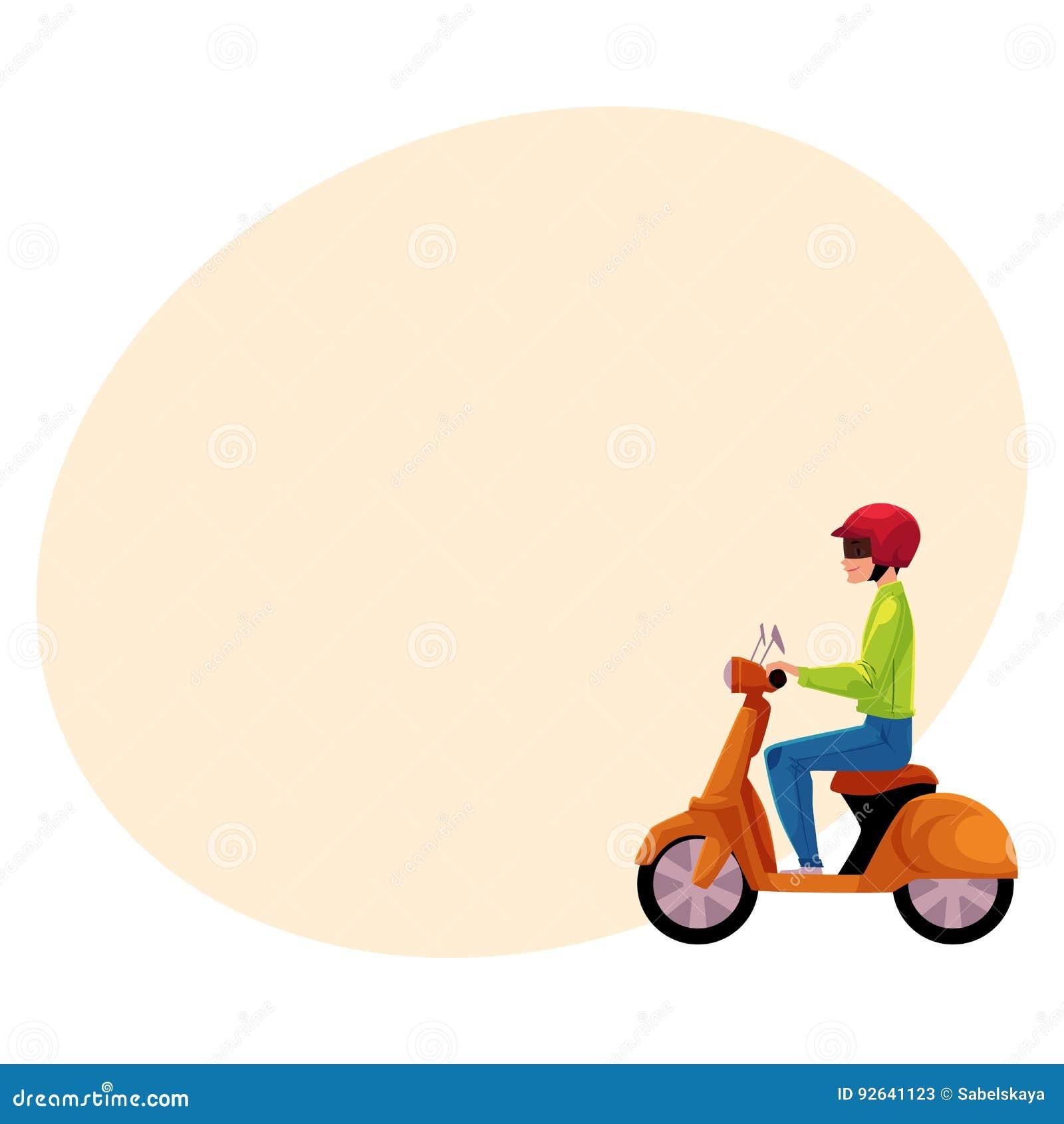 Sparkcykel bärande hjälm för vara nedstämd motorisk cykelryttare, sidovew