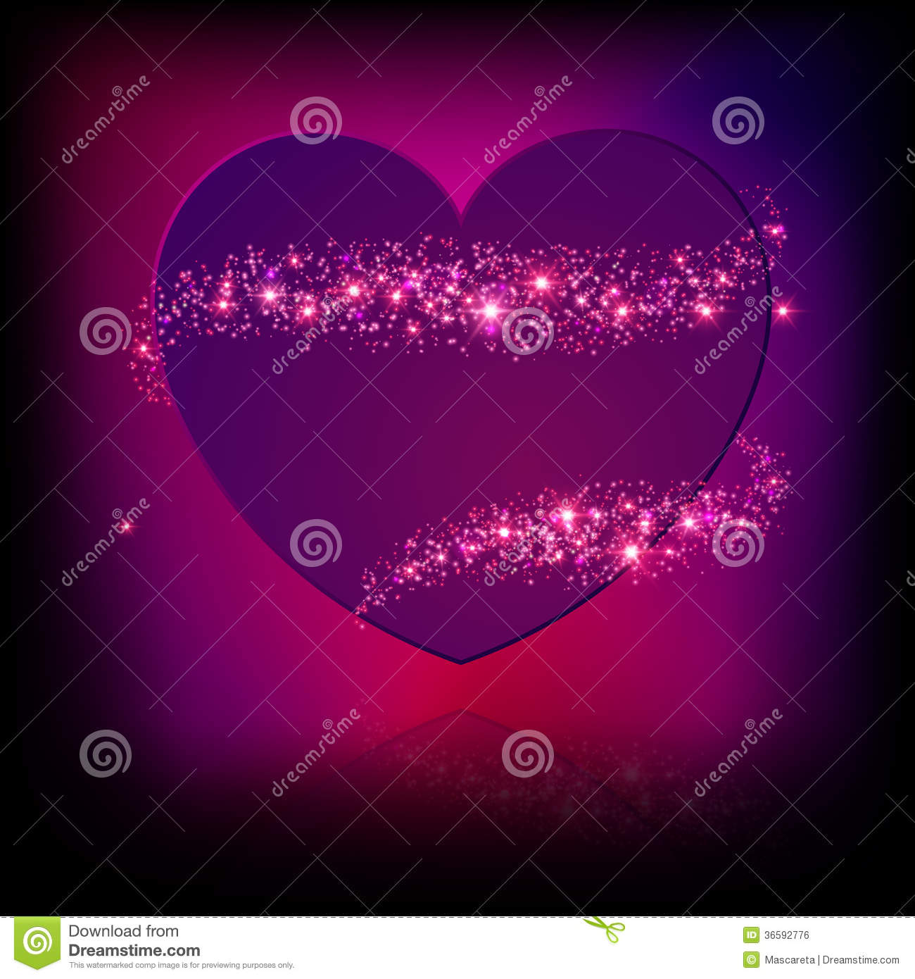 Sparkle Bright Pink Heart Royalty Free Stock Image