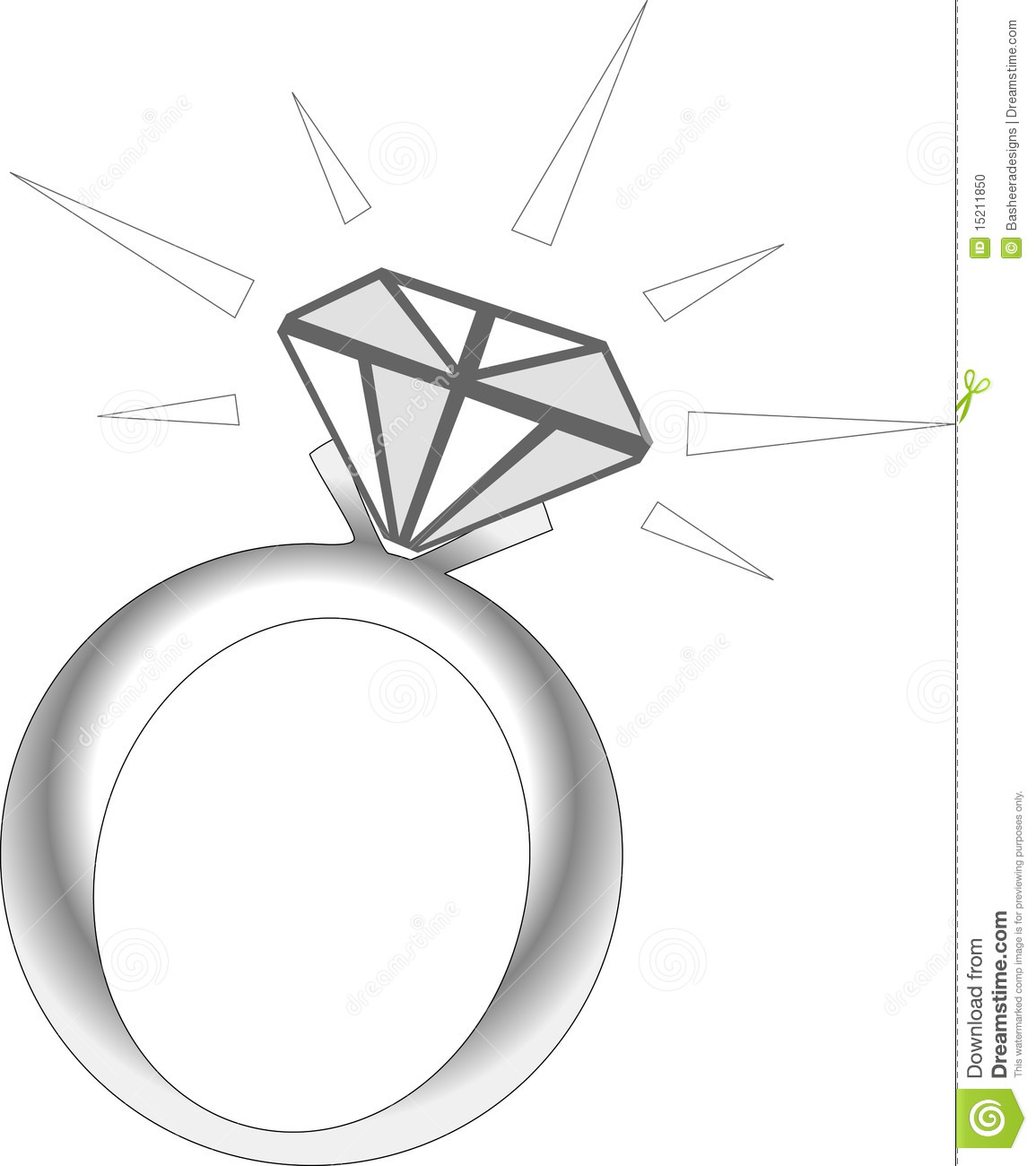 Ring Sparkle Drawing