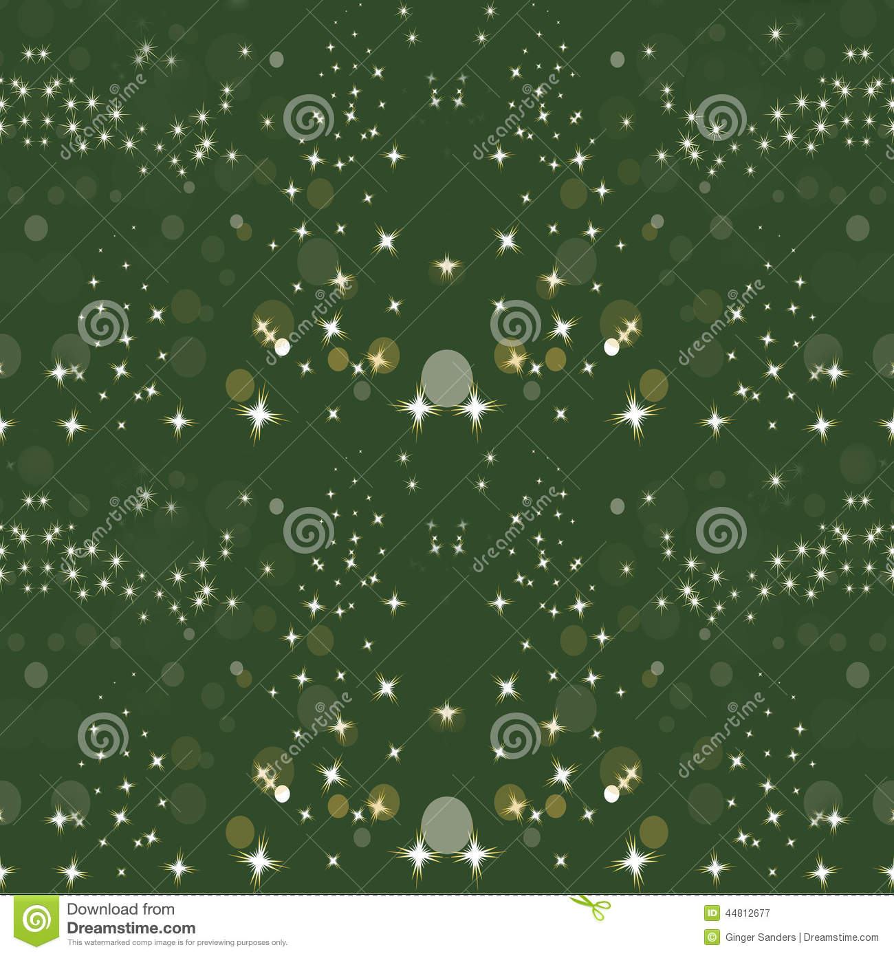 Sparkle Green Gold Holiday Seamless Background Pattern ...