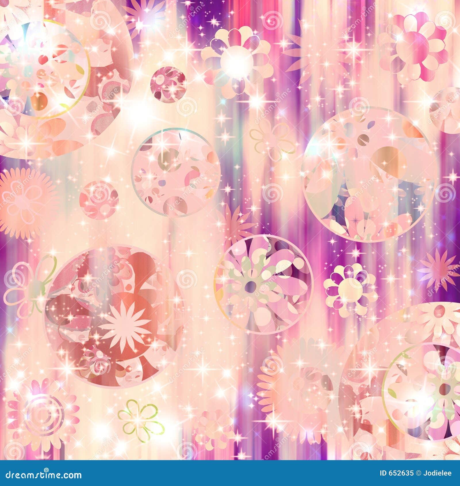 Sparkle Retro Flower Bling! Royalty Free Stock Photo - Image: 652635