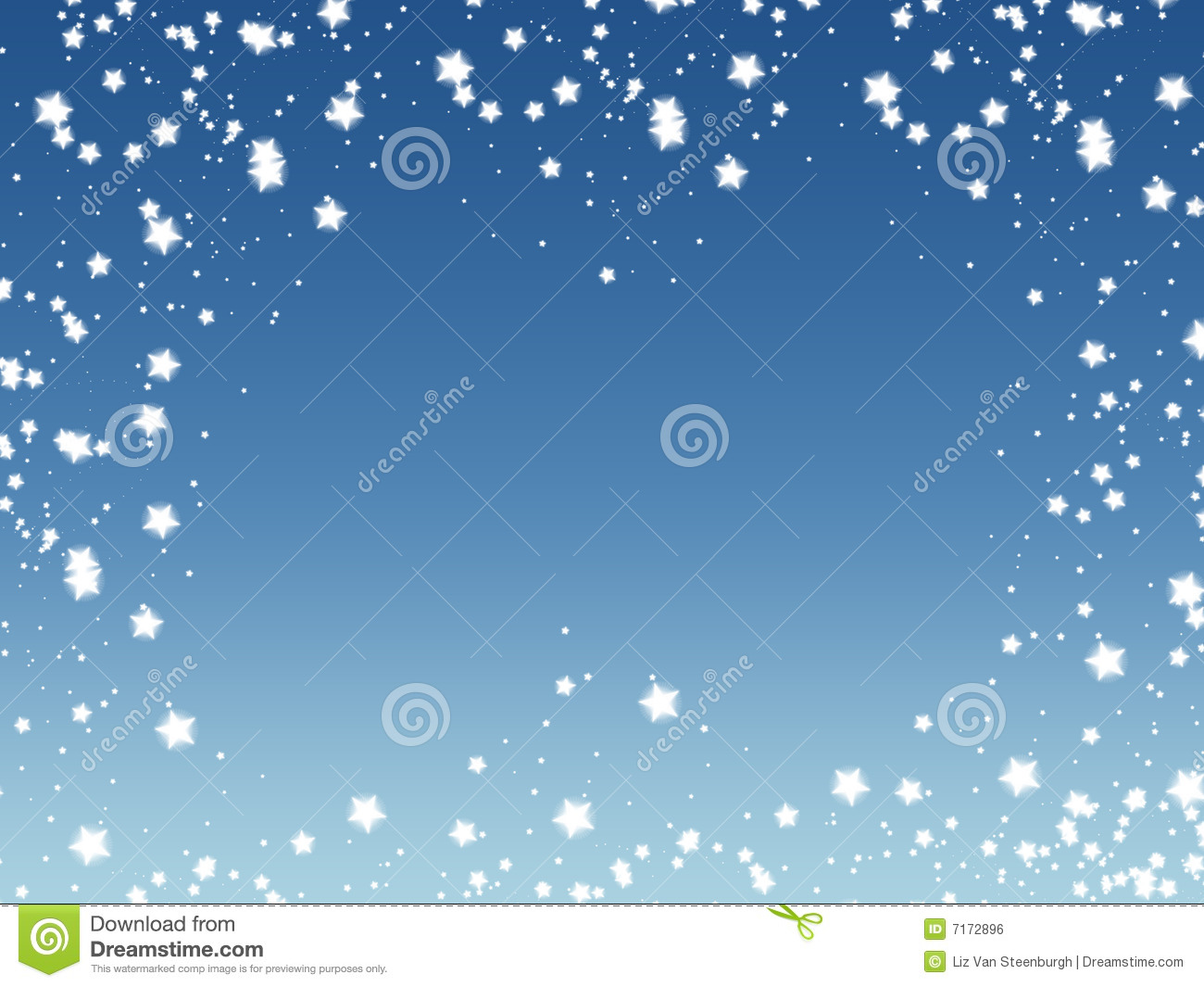 Sparkle Star Border Stock Illustration Illustration Of
