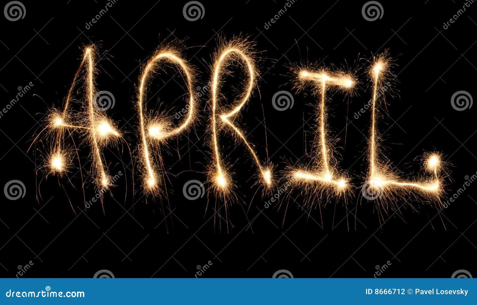 Sparkler d avril de mois