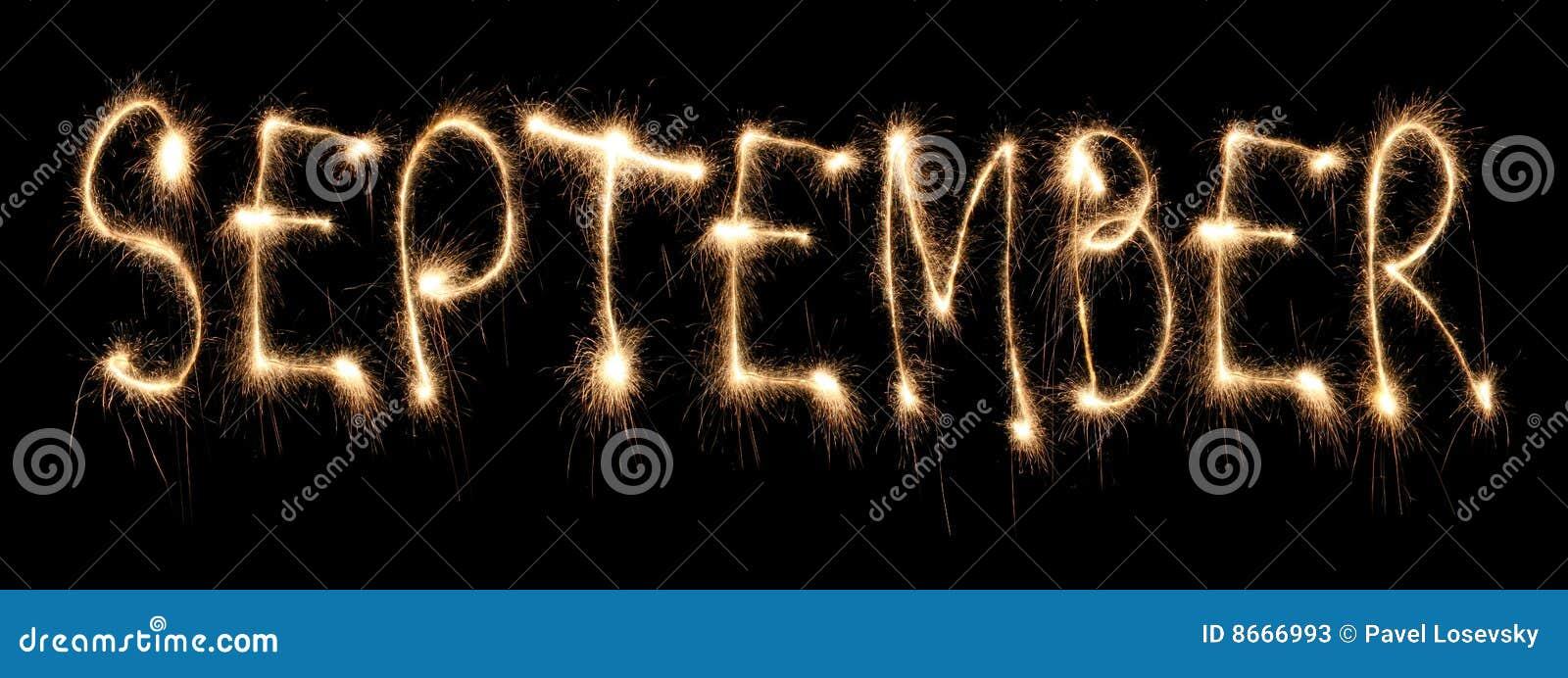 Sparkler de septembre de mois