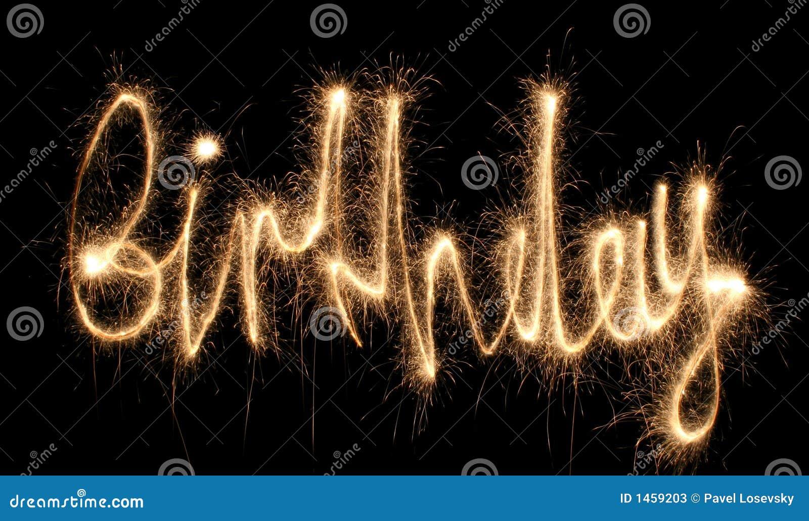 Sparkler del cumpleaños