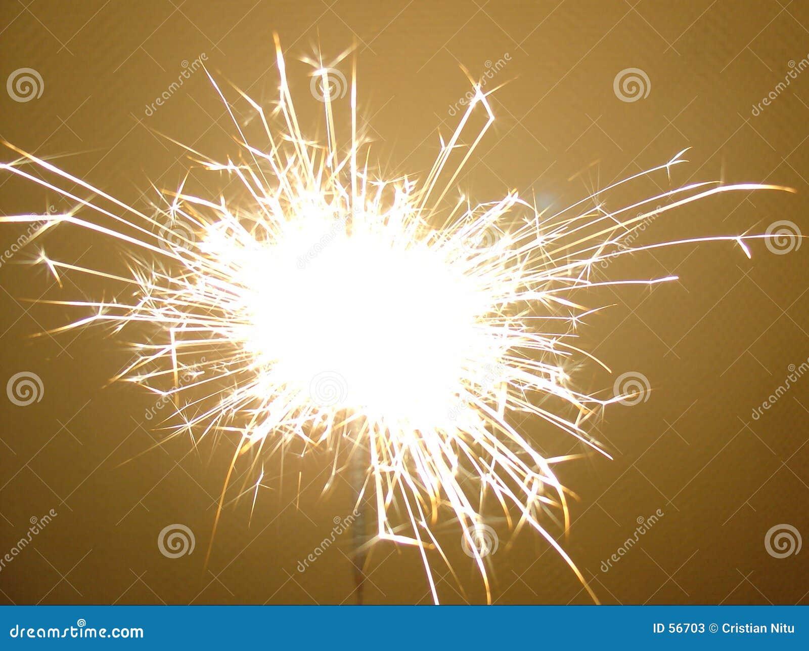Sparkler dos fogos-de-artifício