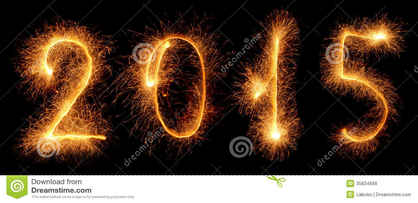 Sparkler. New year 2015