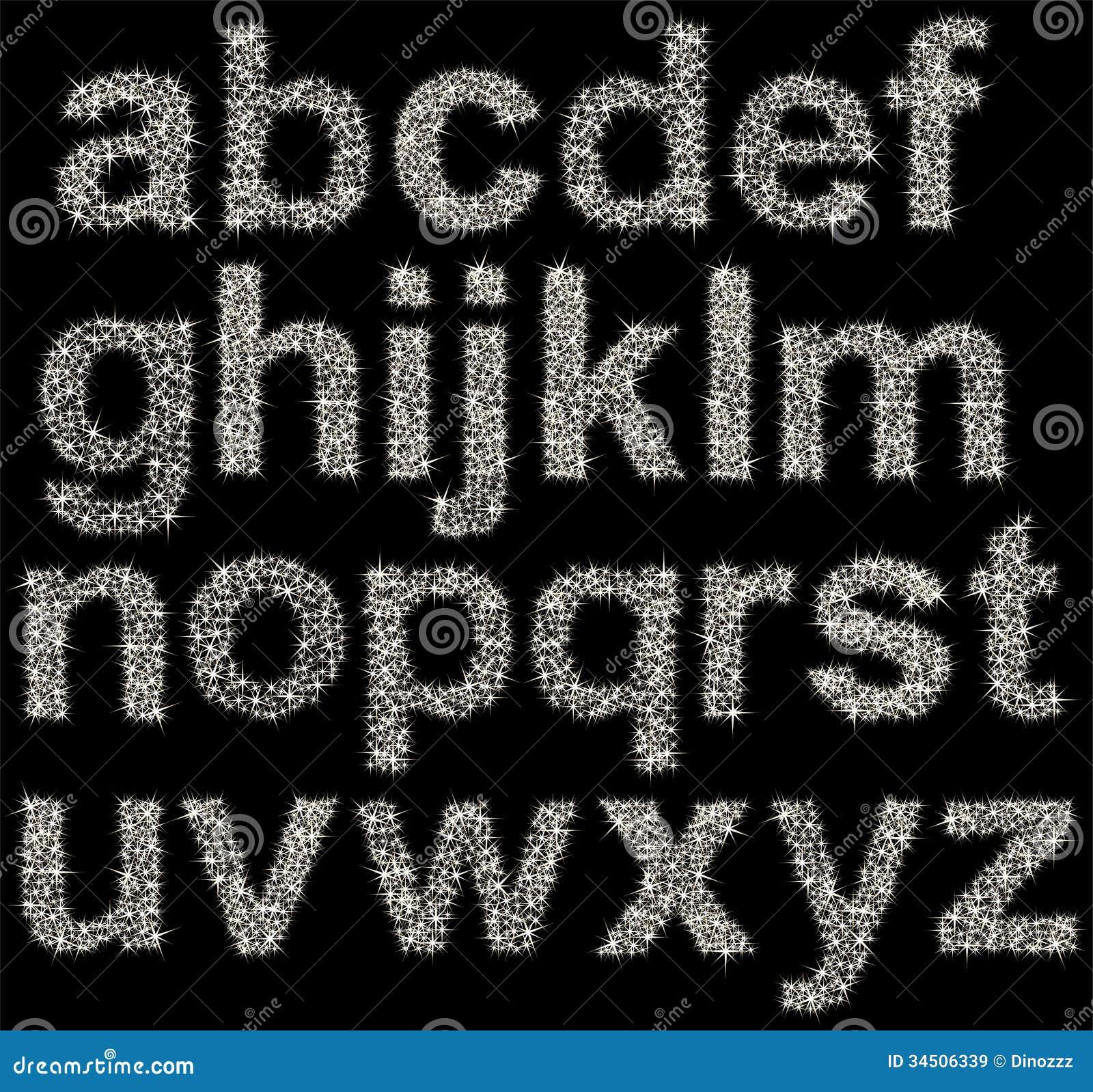 Sparkle Alphabet Letters