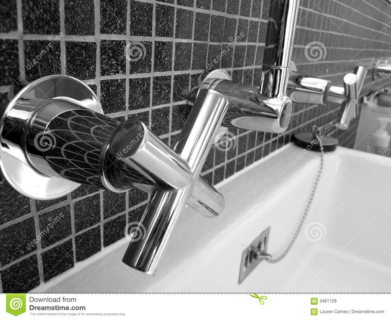 Sparkling Bathroom Taps Royalty Free Stock Images Image