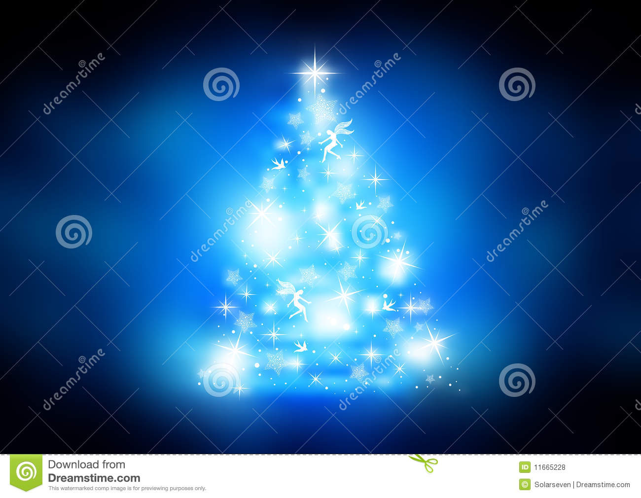 sparkling christmas tree stock vector  image of background