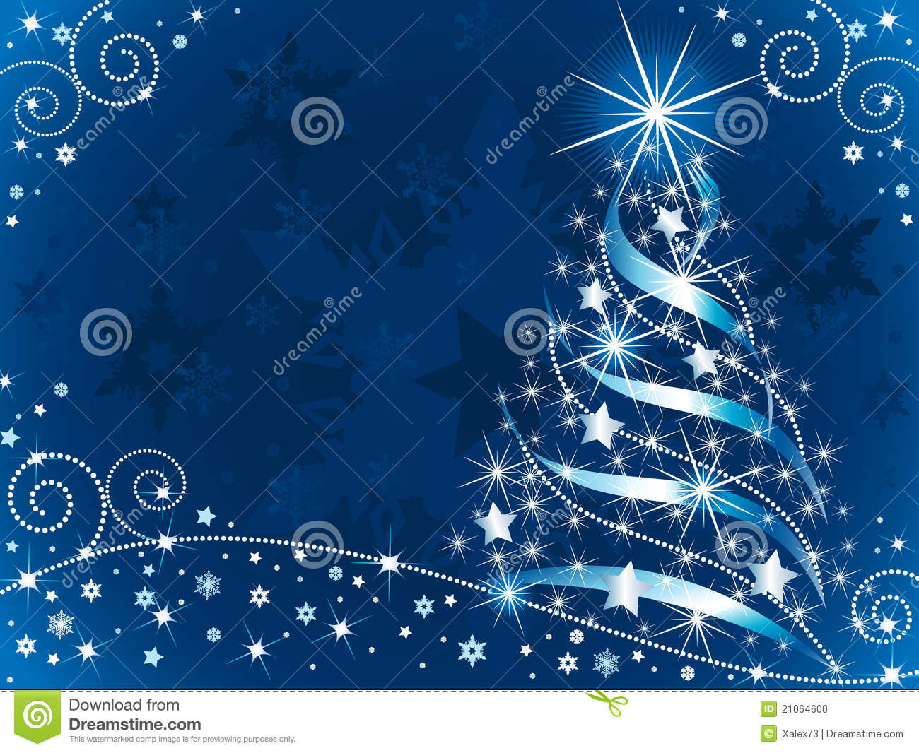 Christmas Tree With Ribbon Pictures