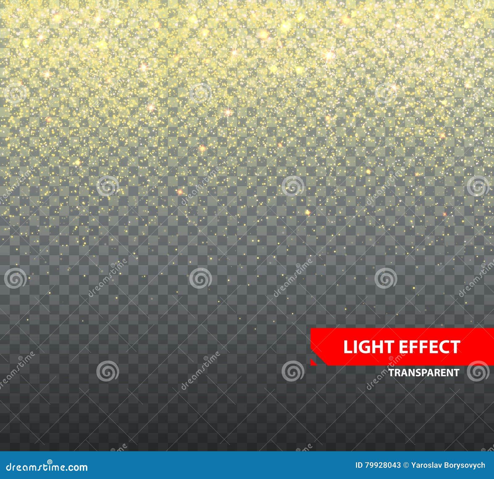 Sparkling Glitter On Transparent Background For Greeting Cards