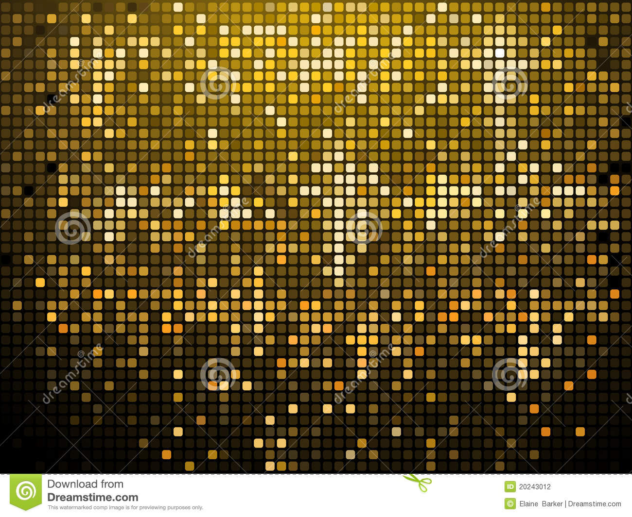 Sparkling Gold Mosaic Background Stock Photography Image