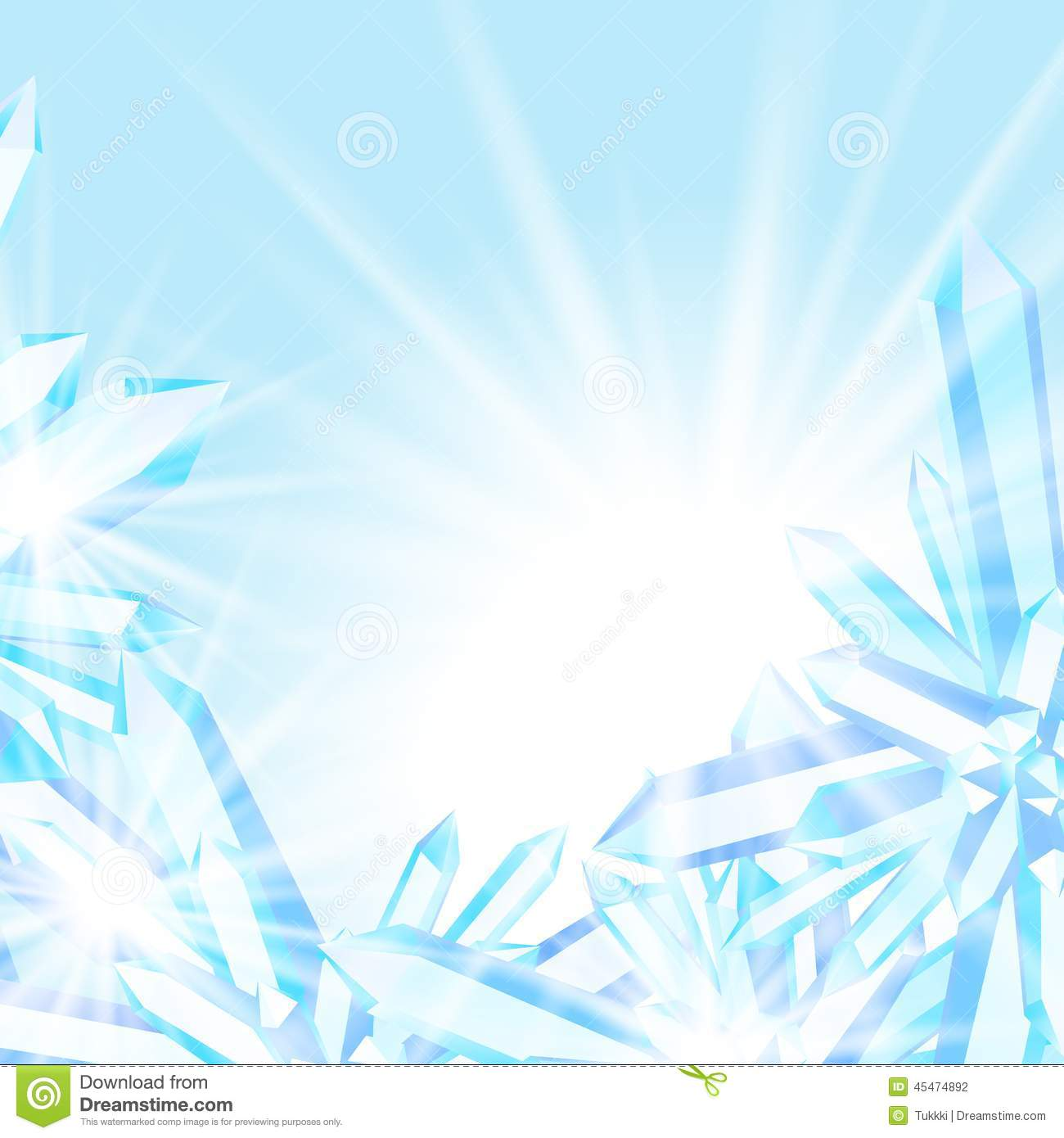 Ice Cream Background Sparking Shiny Decoration Free Vector: Sparkling Ice Crystals Stock Vector. Illustration Of