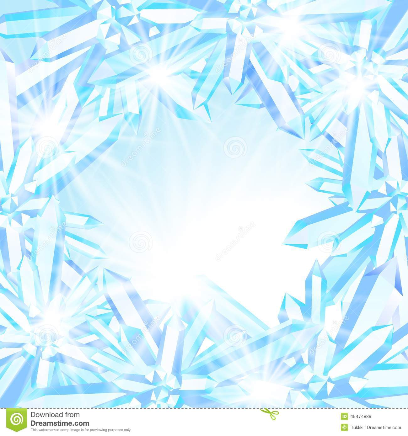 Ice Cream Background Sparking Shiny Decoration Free Vector: Sparkling Ice Crystals Stock Vector