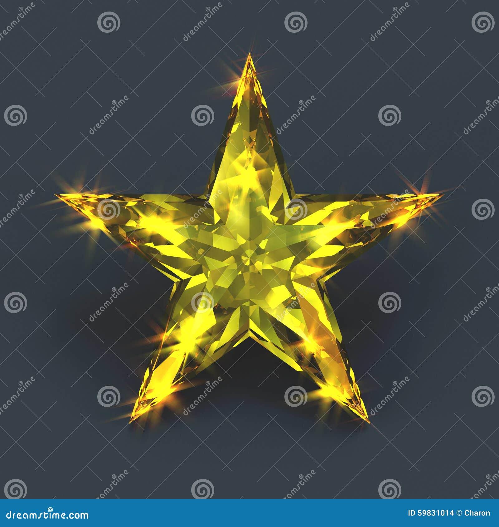 sparkling shiny yellow star gemstone stock illustration. Black Bedroom Furniture Sets. Home Design Ideas
