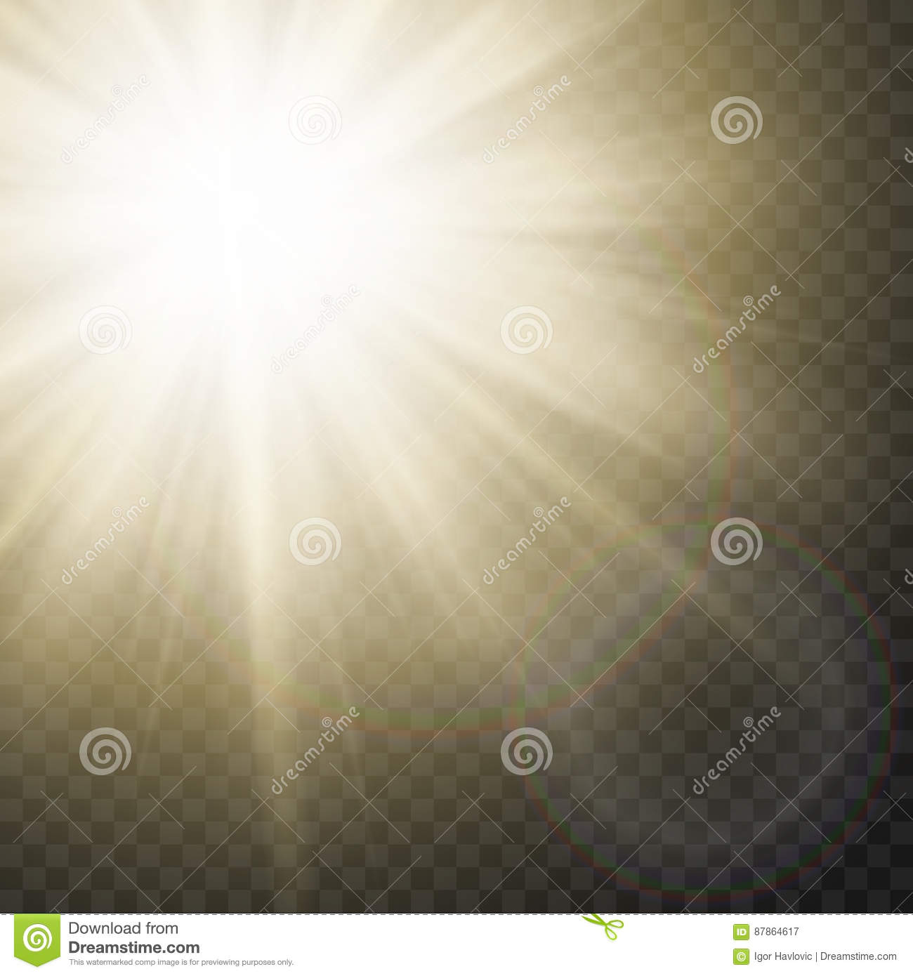 Sparkling Sun Rays With Flare Effect On Transparent Background ... for Sun Light Effect Background  113lpg