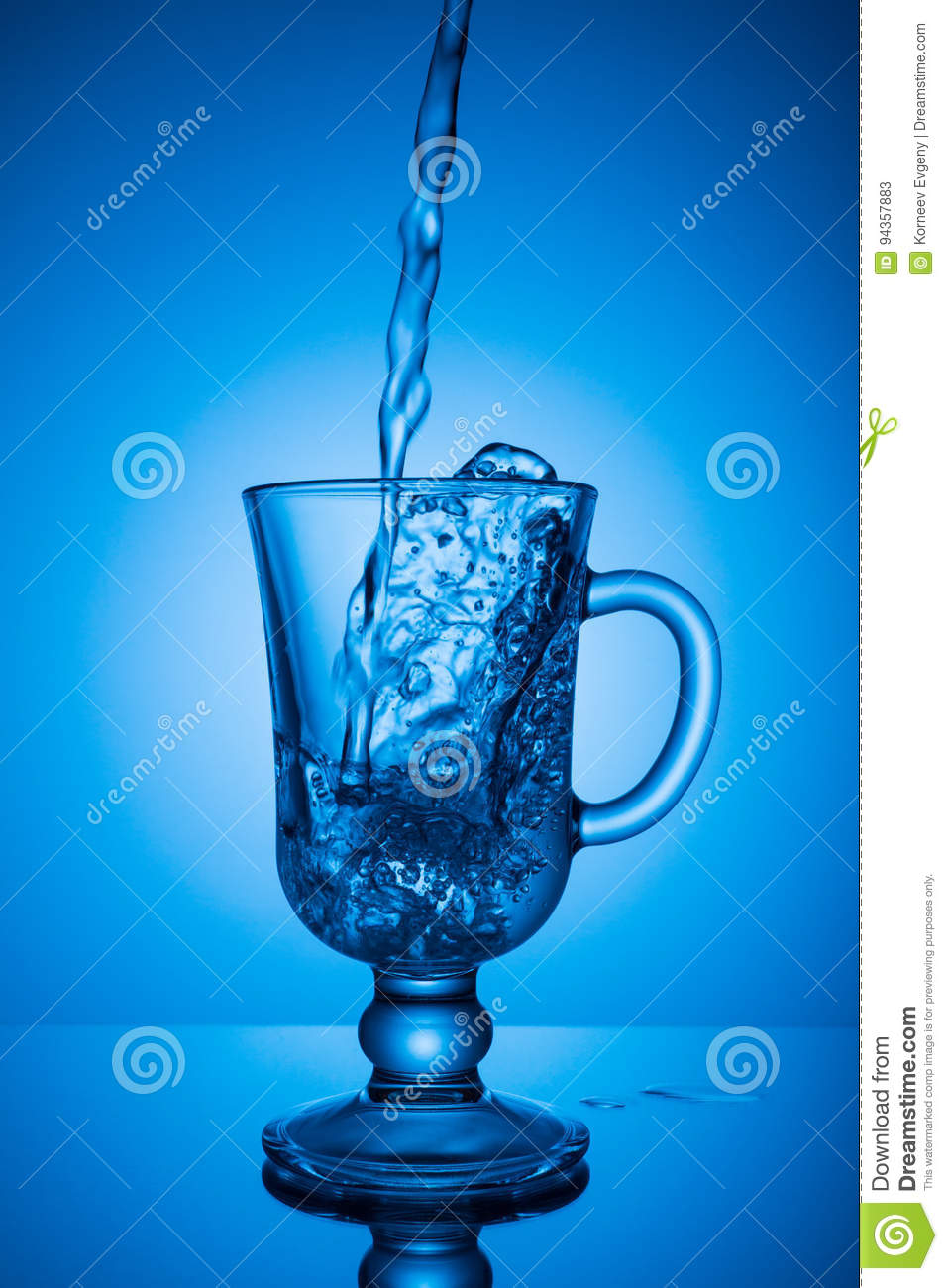 Sparkling water. Dynamic spike, thirst quenching on a hot day.