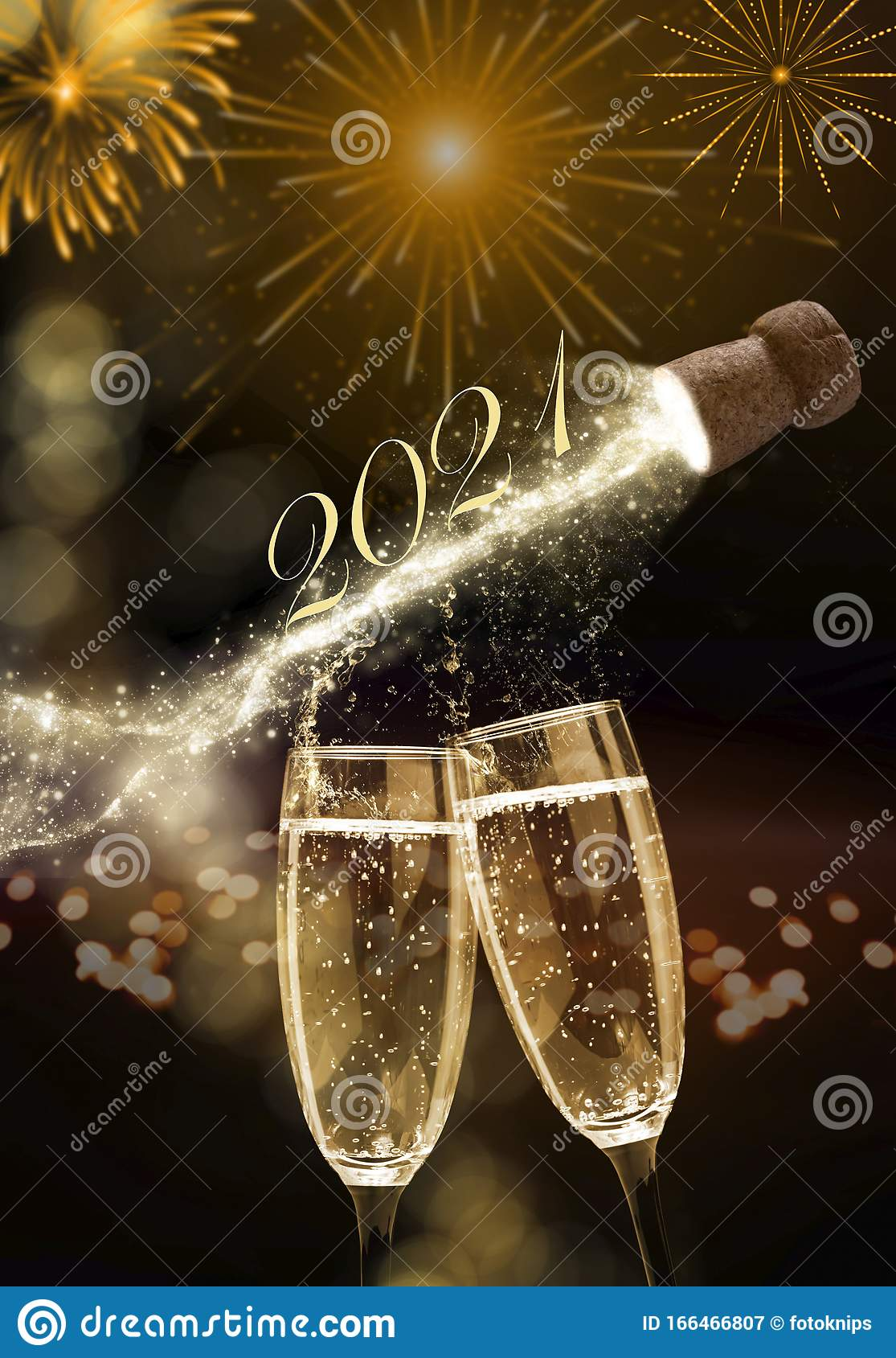 Sparkling Wine On New Year`s Eve, New Year 2021 Stock Image - Image of beverage, party: 166466807