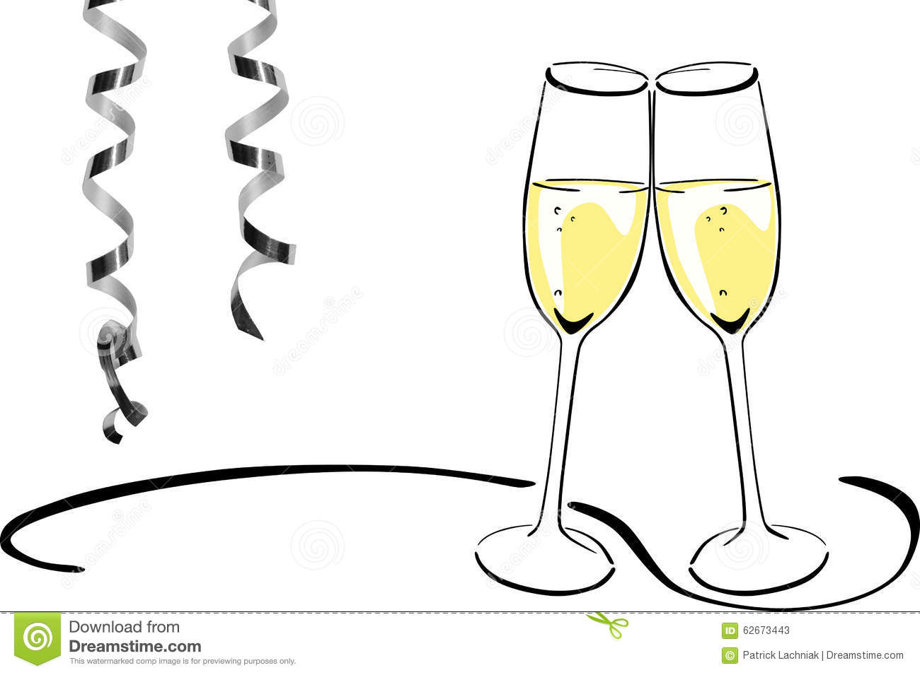 Sparkling wine glasses - New Years Eve