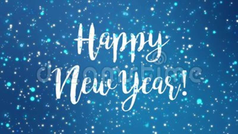 sparkly blue happy new year greeting card video stock footage video of full festive 103344794