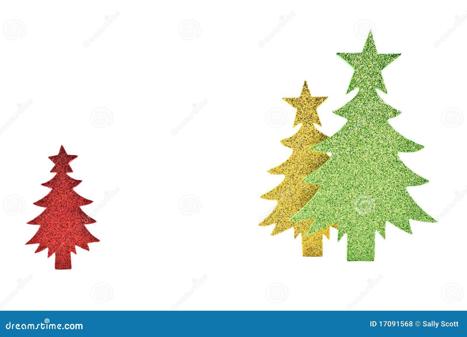Sparkly Papierbäume