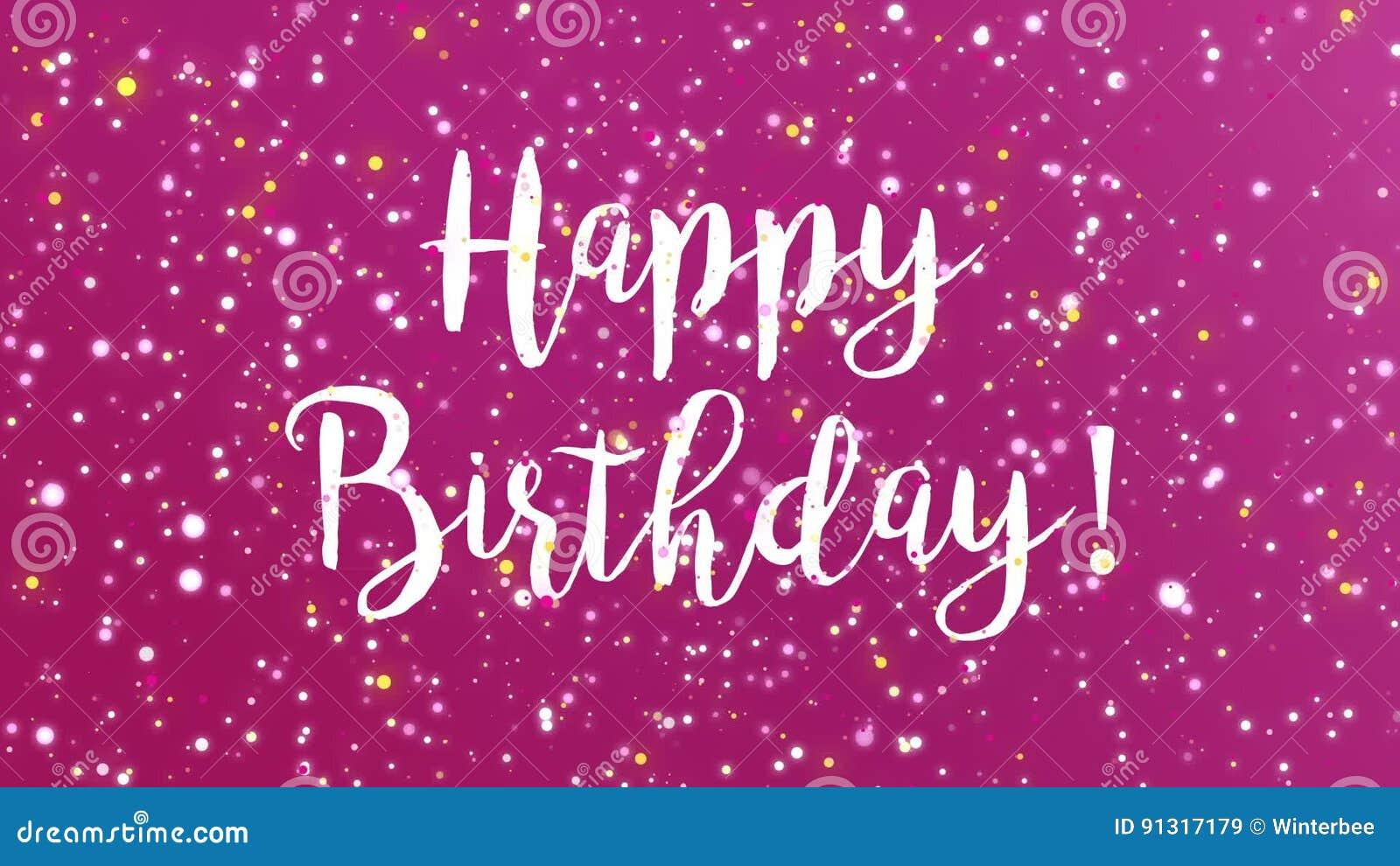 Sparkly Purple Happy Birthday Greeting Card Video Video – Happy Birthday Card Video
