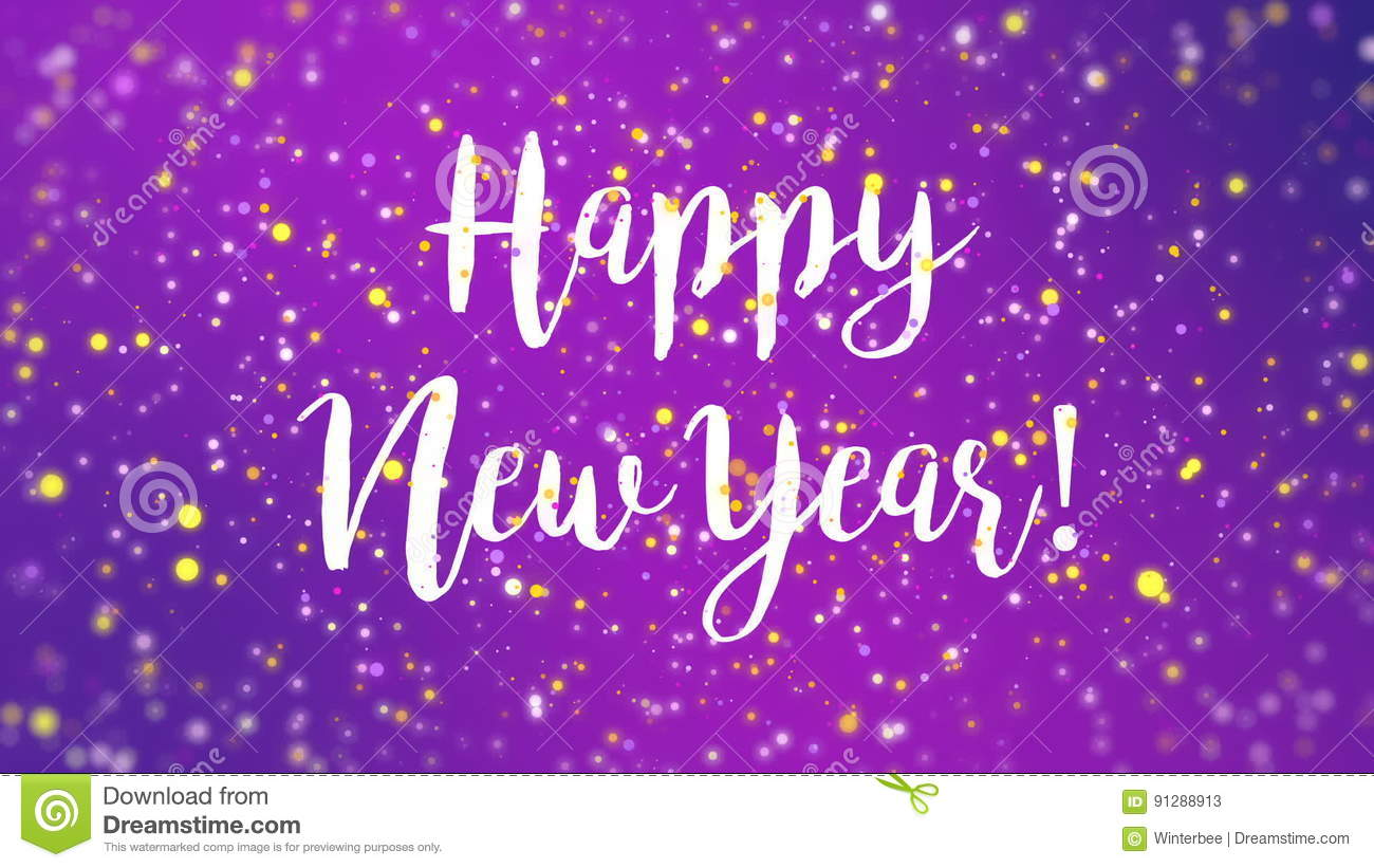 sparkly purple happy new year greeting card video stock video video of gold cute 91288913