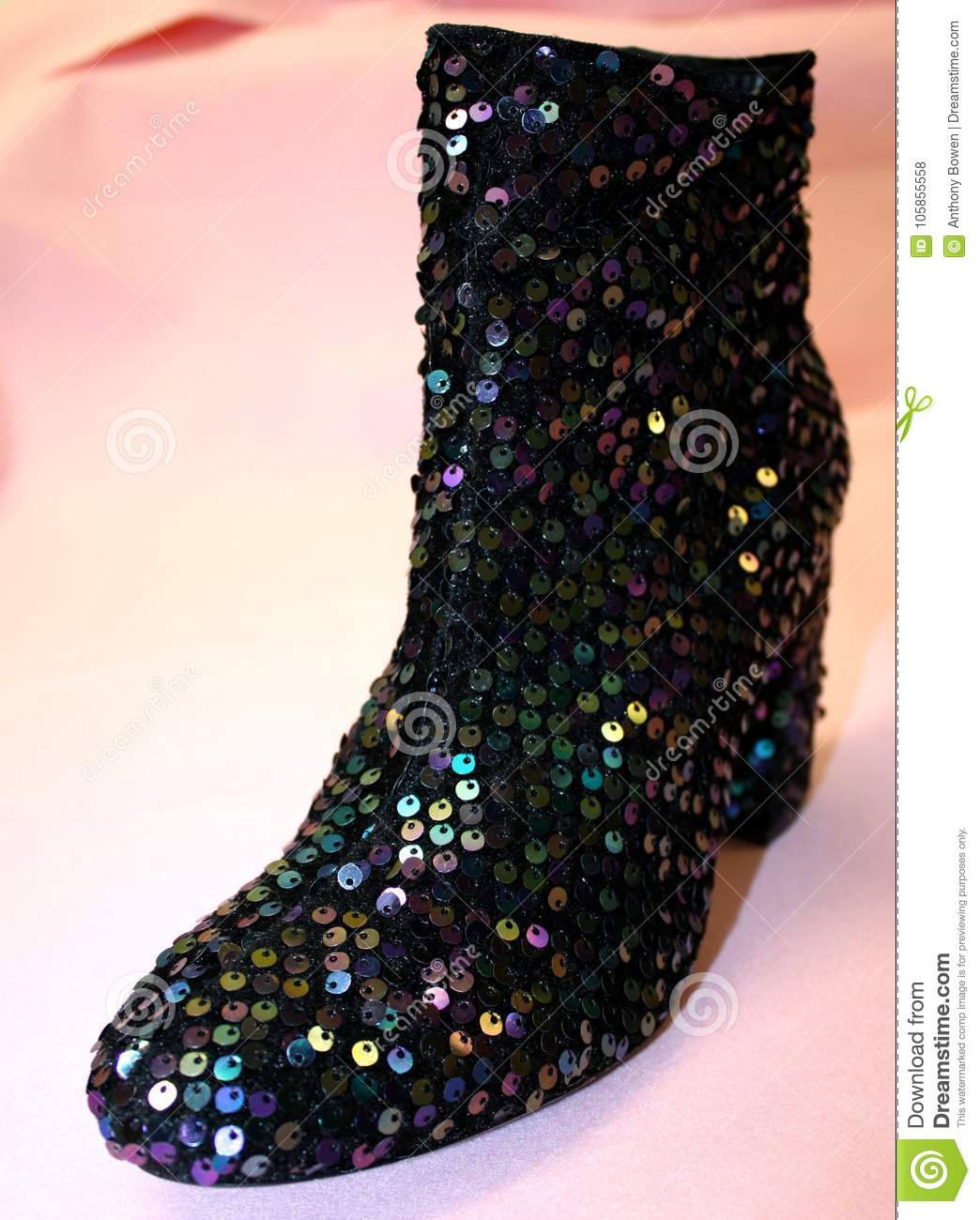 Sparkly Boots stock photo. Image of