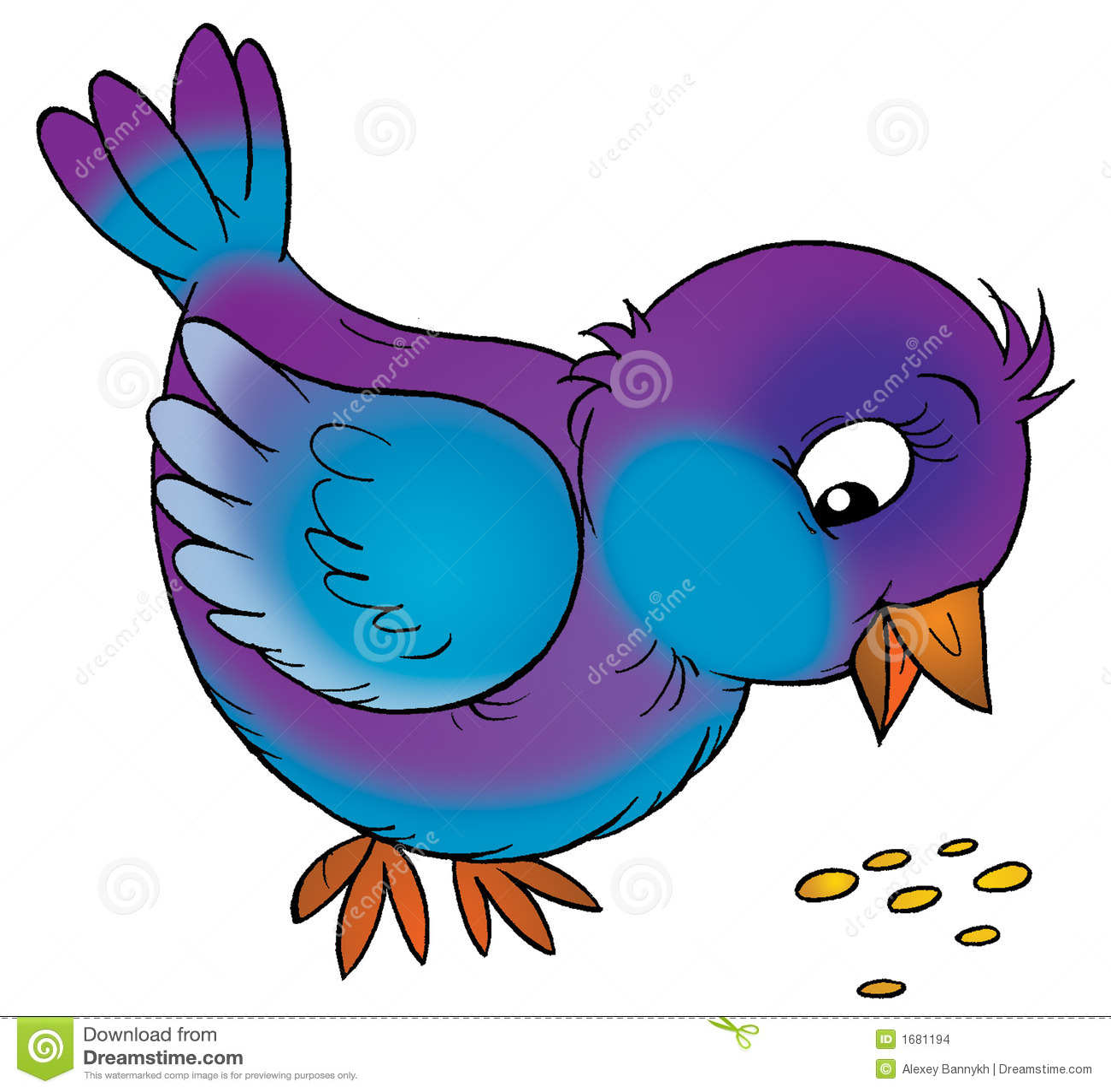Sparrow Stock Illustration. Illustration Of Color, Comics