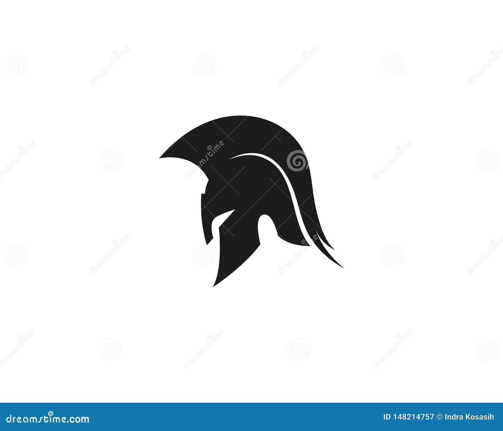 Spartaans het malplaatje vectorpictogram van het helmembleem