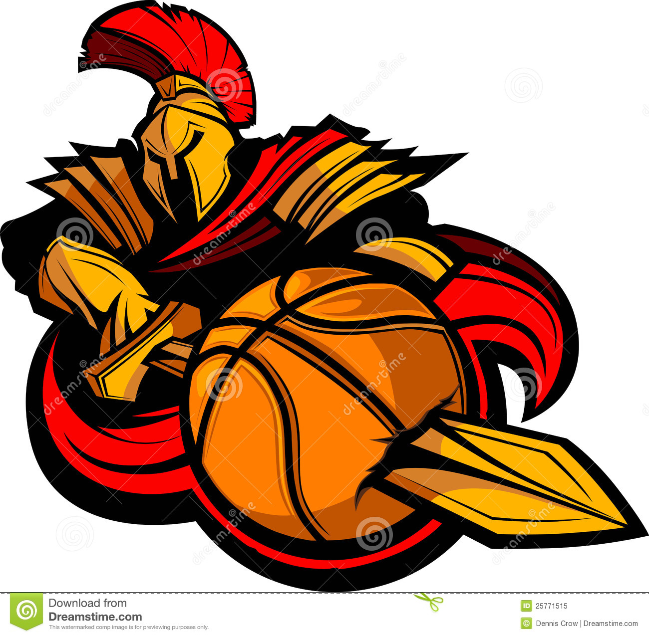 Spartan Basketball Illustration Royalty Free Stock Photo - Image ...