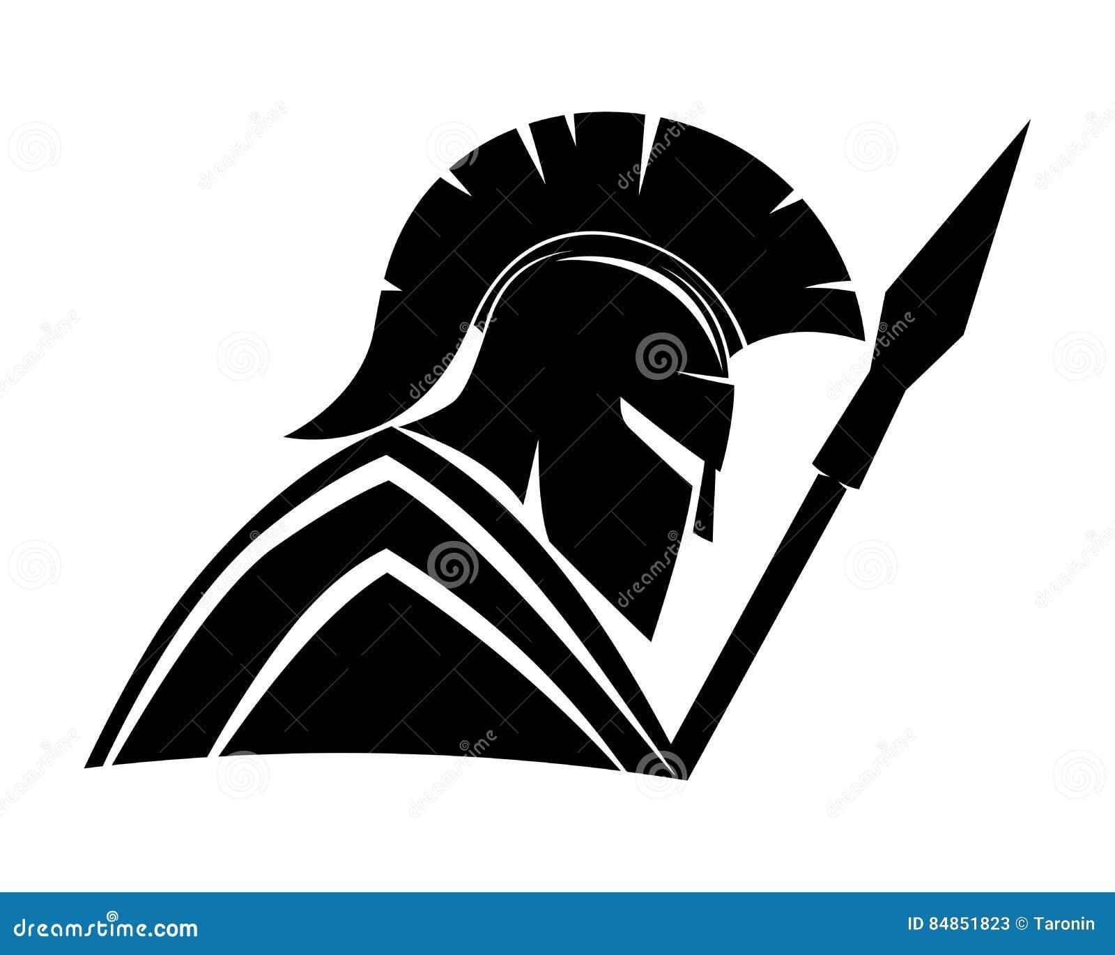 Spartan black sign stock vector Illustration of head