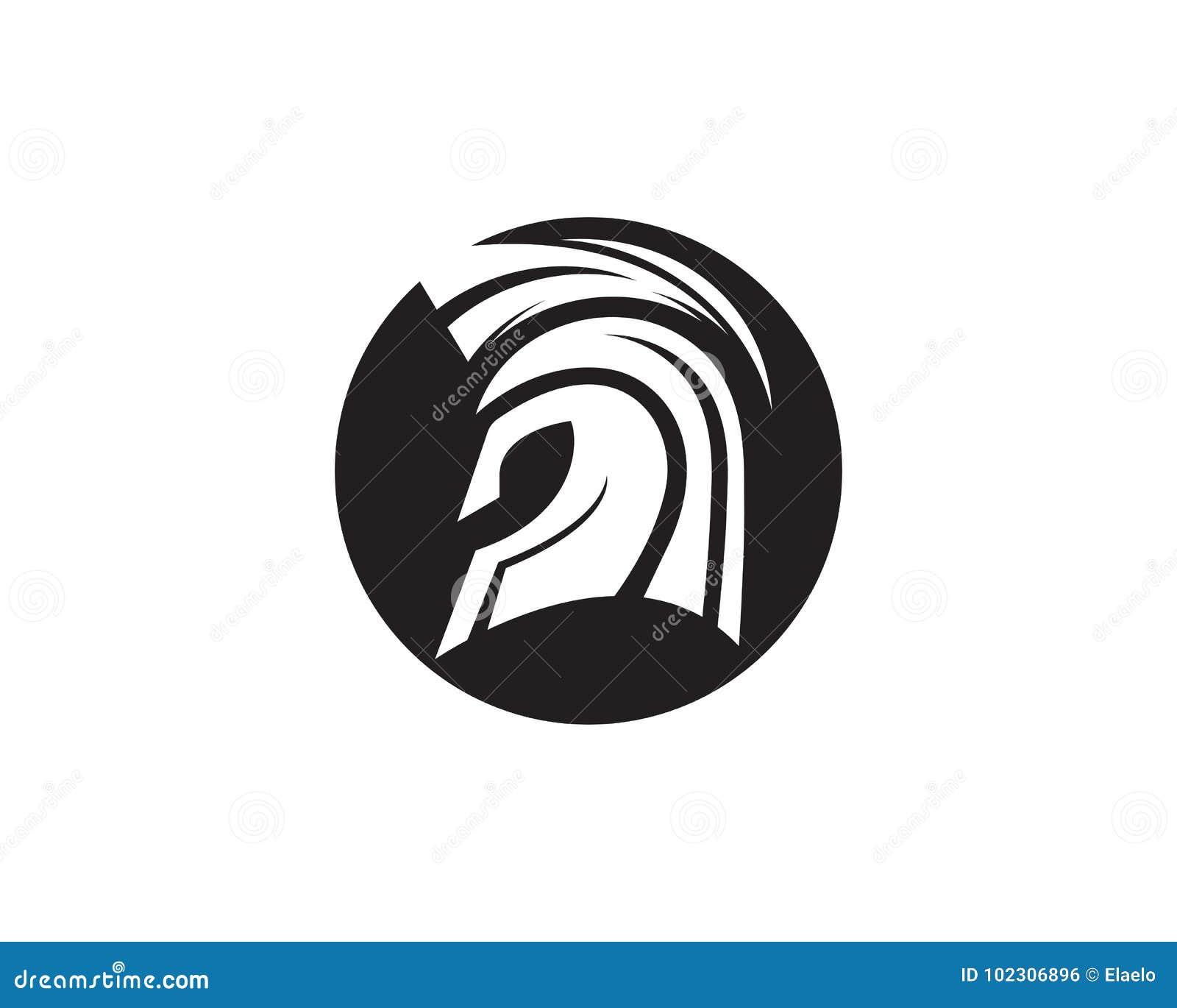 spartan helmet logo template stock vector illustration of retro