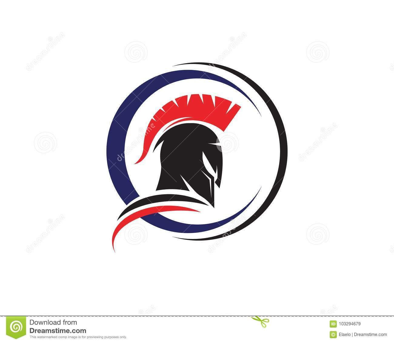 22c9868c1bb43 Spartan helmet logo template vector icon design. Designers Also Selected  These Stock Illustrations