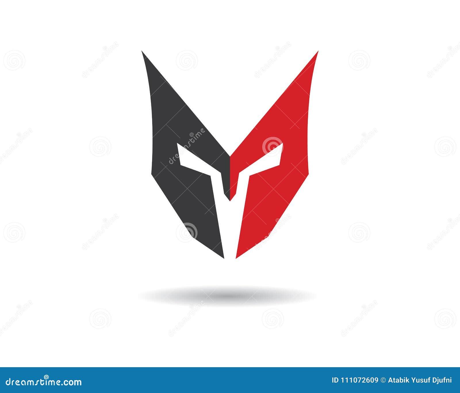 2c25713f50de1 Spartan helmet logo template vector icon. More similar stock illustrations