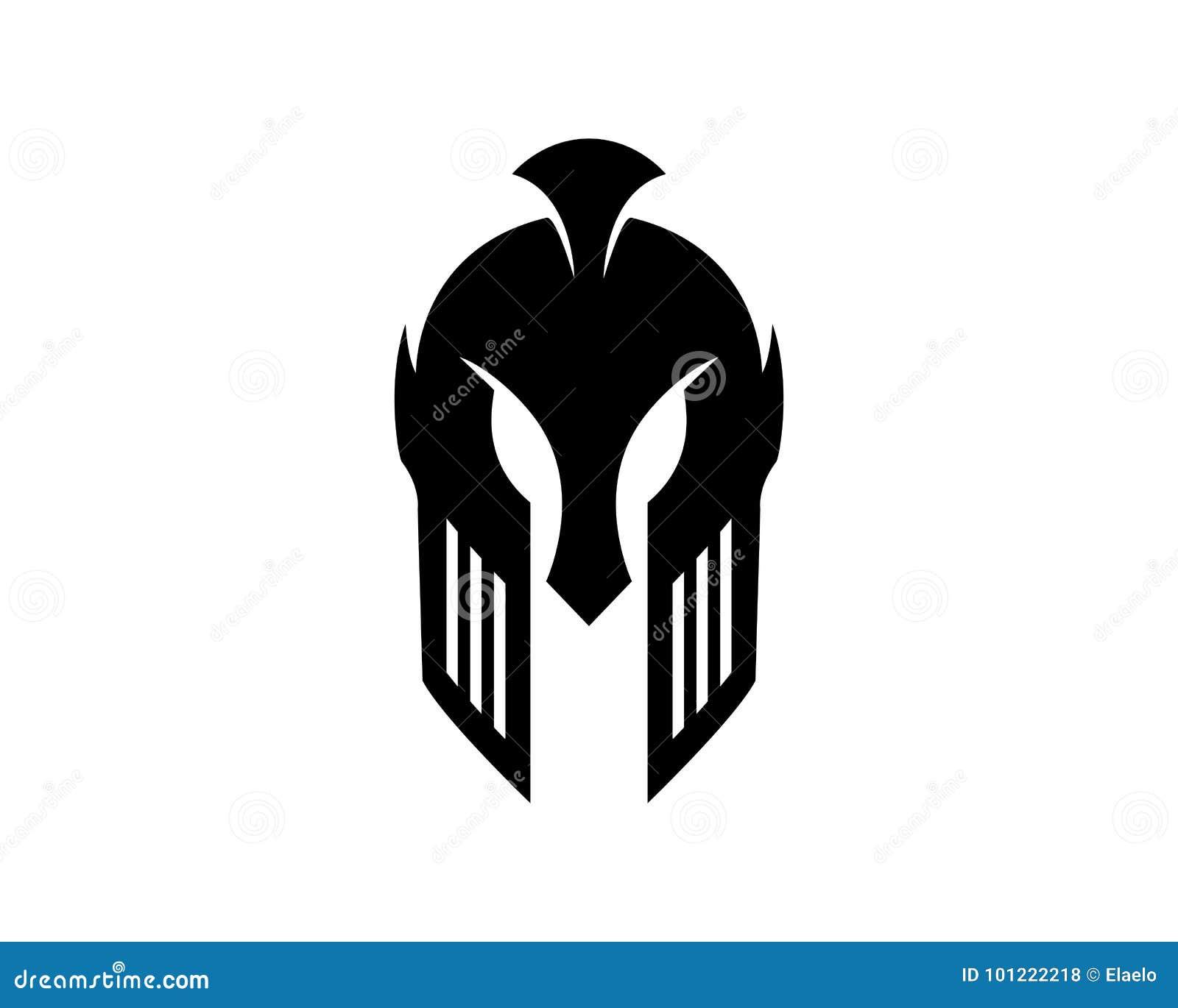 spartan helmet logo template stock vector illustration of armor