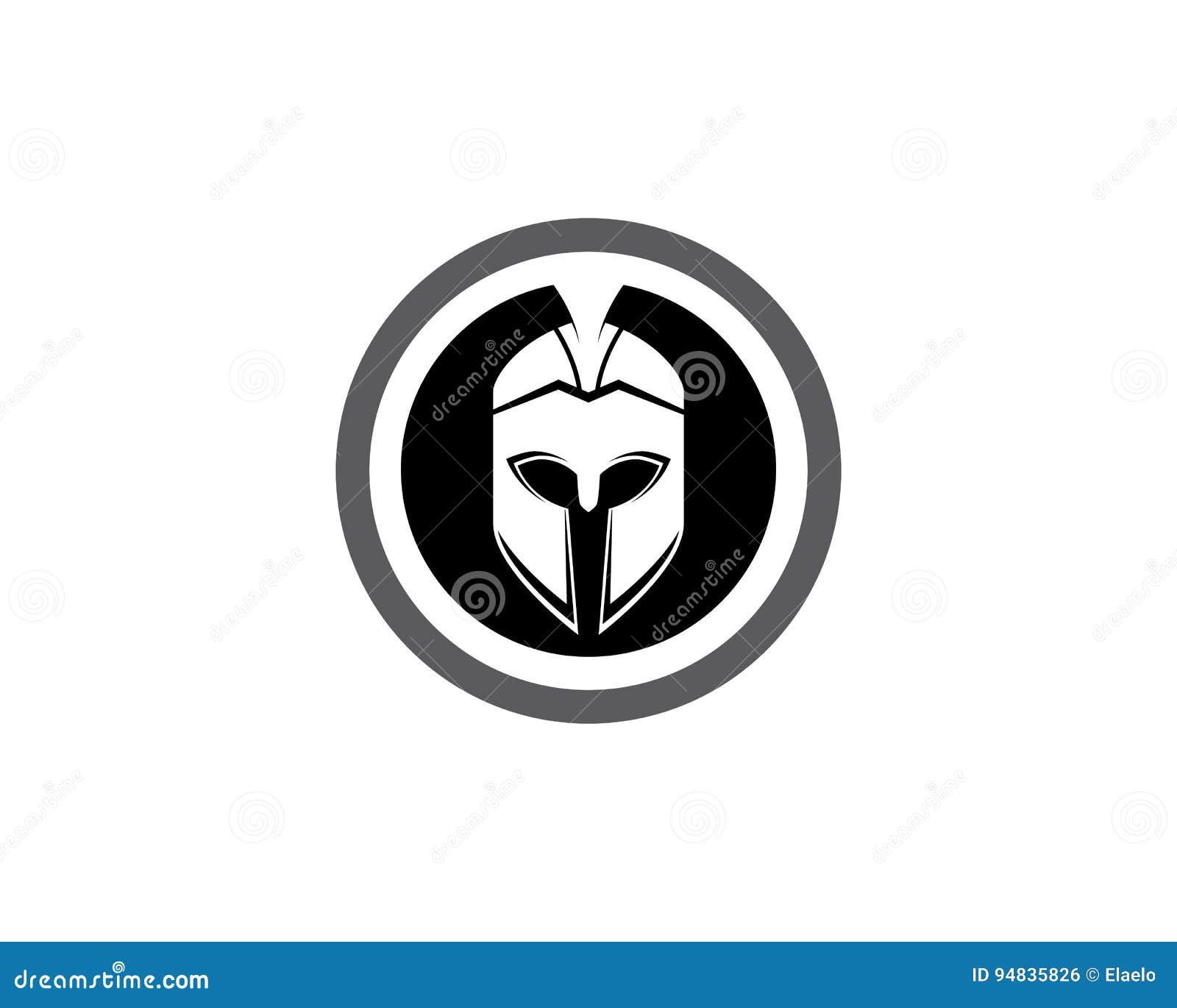 Spartan helmet logo template stock vector image 94835826 spartan helmet logo template pronofoot35fo Choice Image