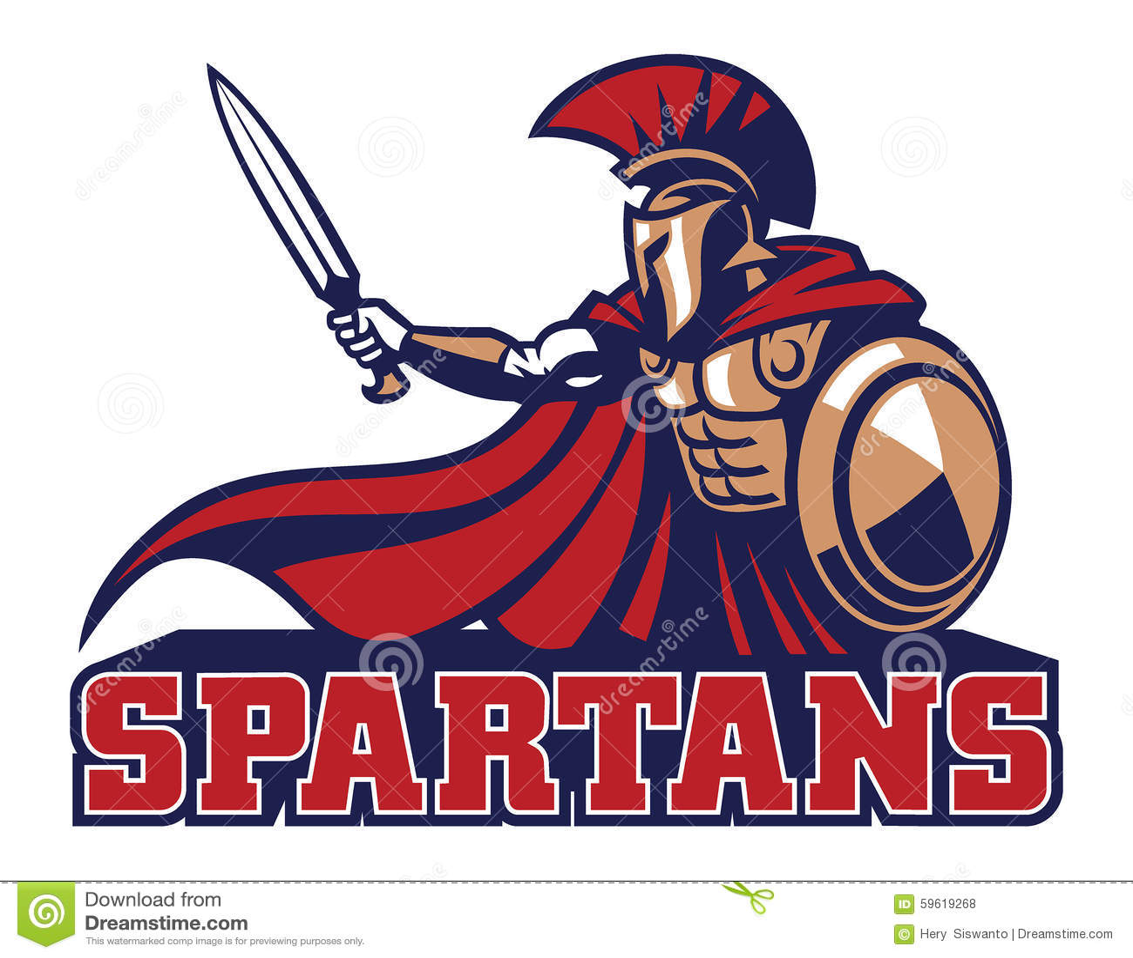 Spartan Mascot Stock Illustration - Image: 59619268