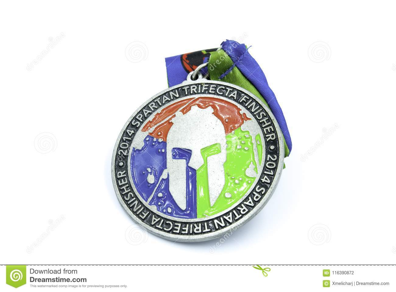 Spartan race best medal editorial photography  Image of
