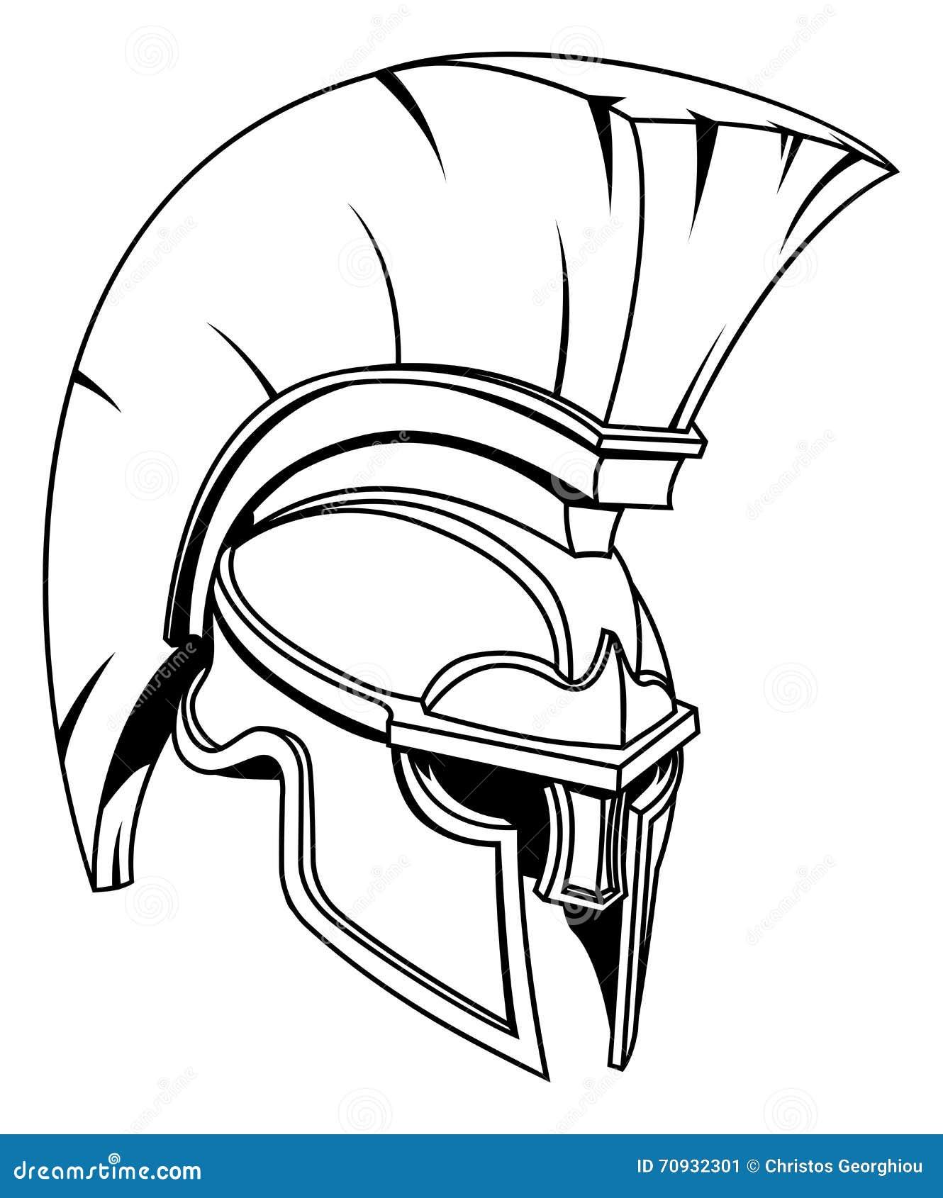 Spartan helmet tattoos