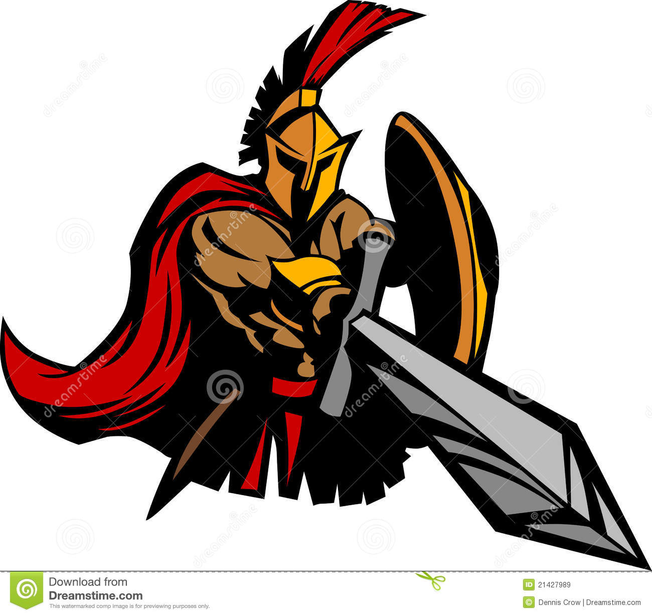 Clip Art Trojan Clipart trojan stock illustrations 2560 spartan mascot with sword and shield royalty free images