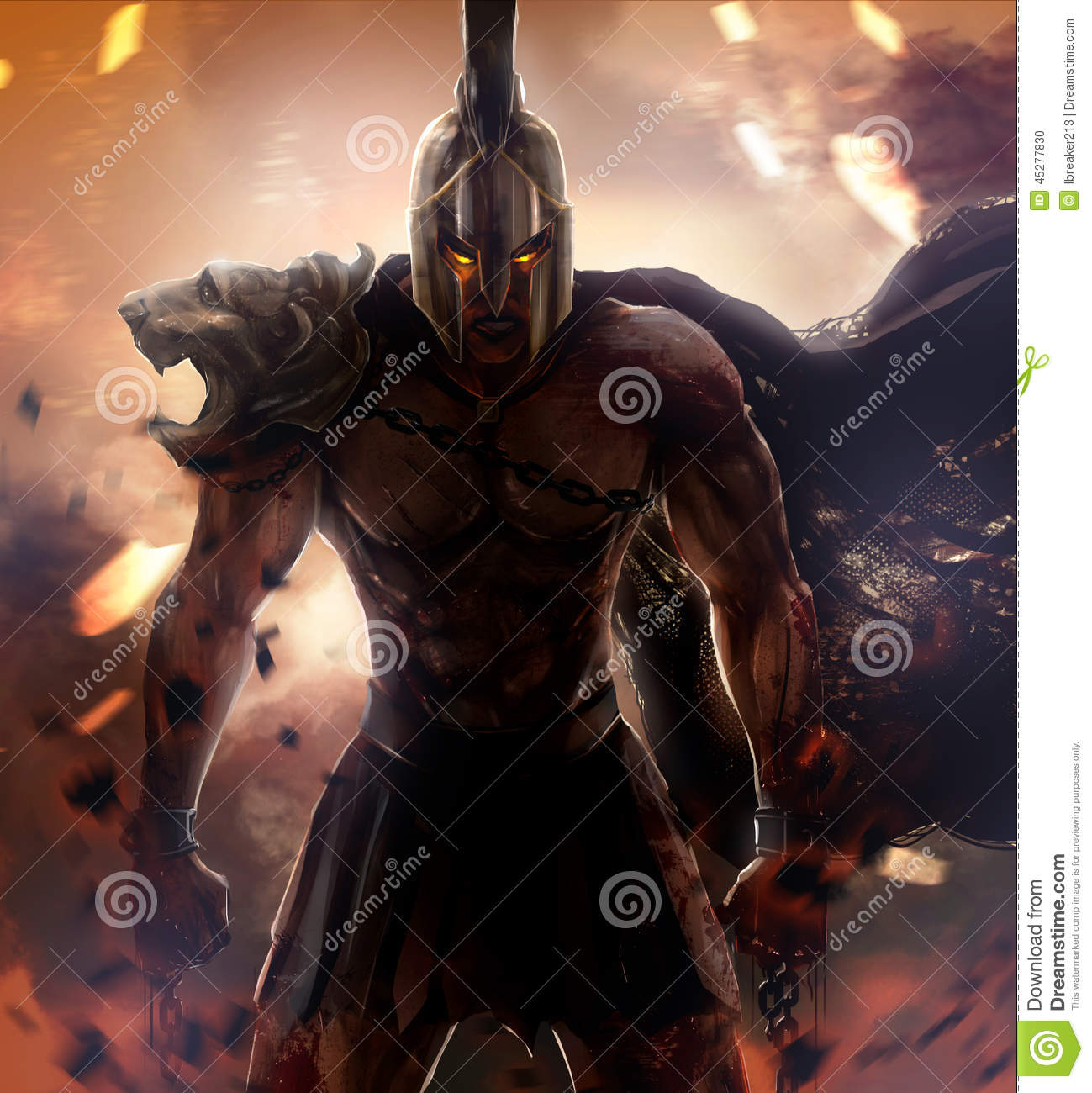 Spartan Warrior Stock Illustration - Image: 45277830