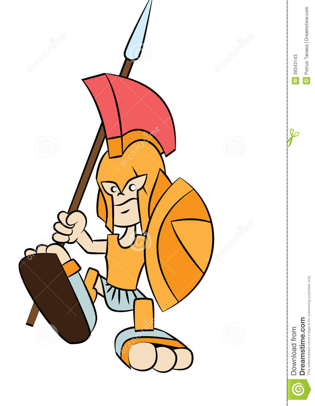 Spartan Warrior Cartoon Stock Vector - Image: 39343143