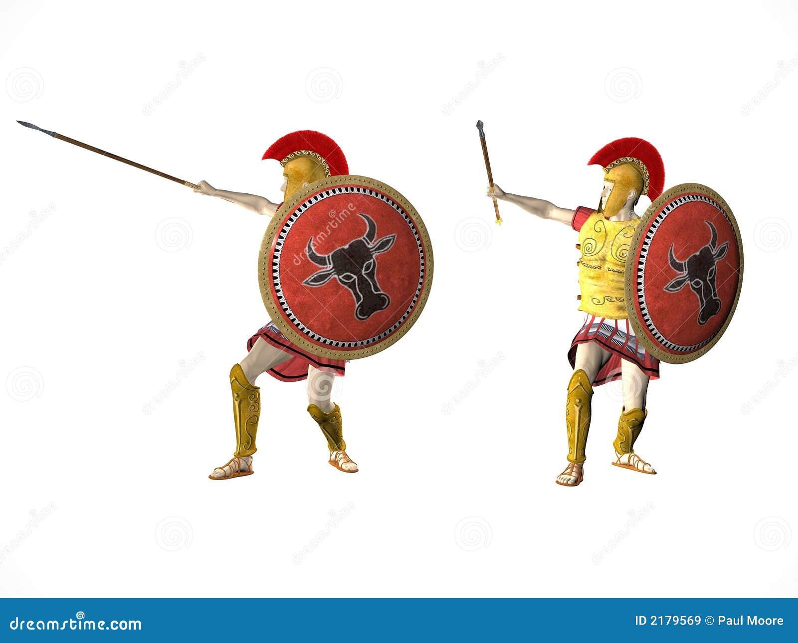 Spartan Warriors 2 Stock Illustration Image Of Fear