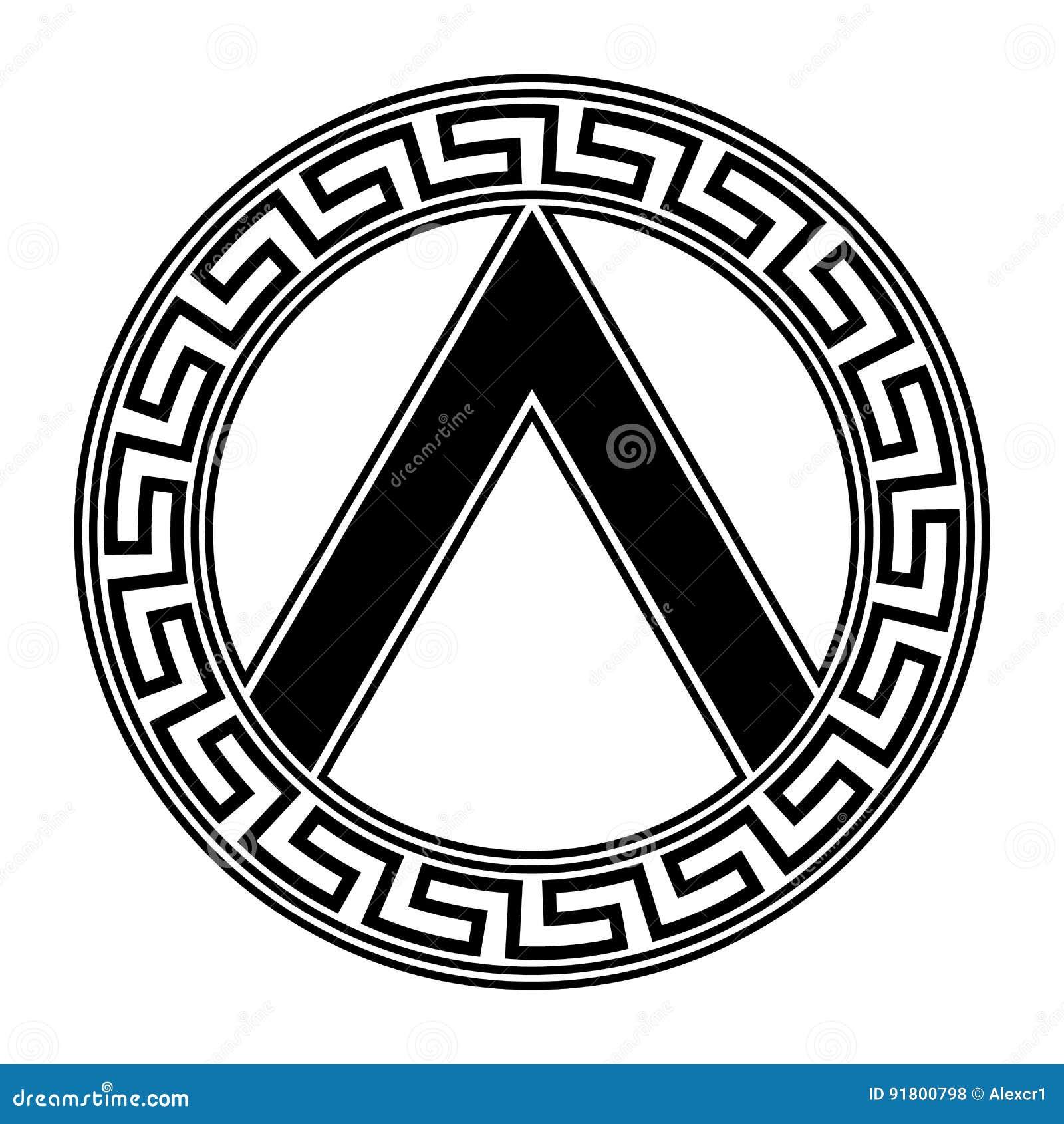 Spartanisches Schild