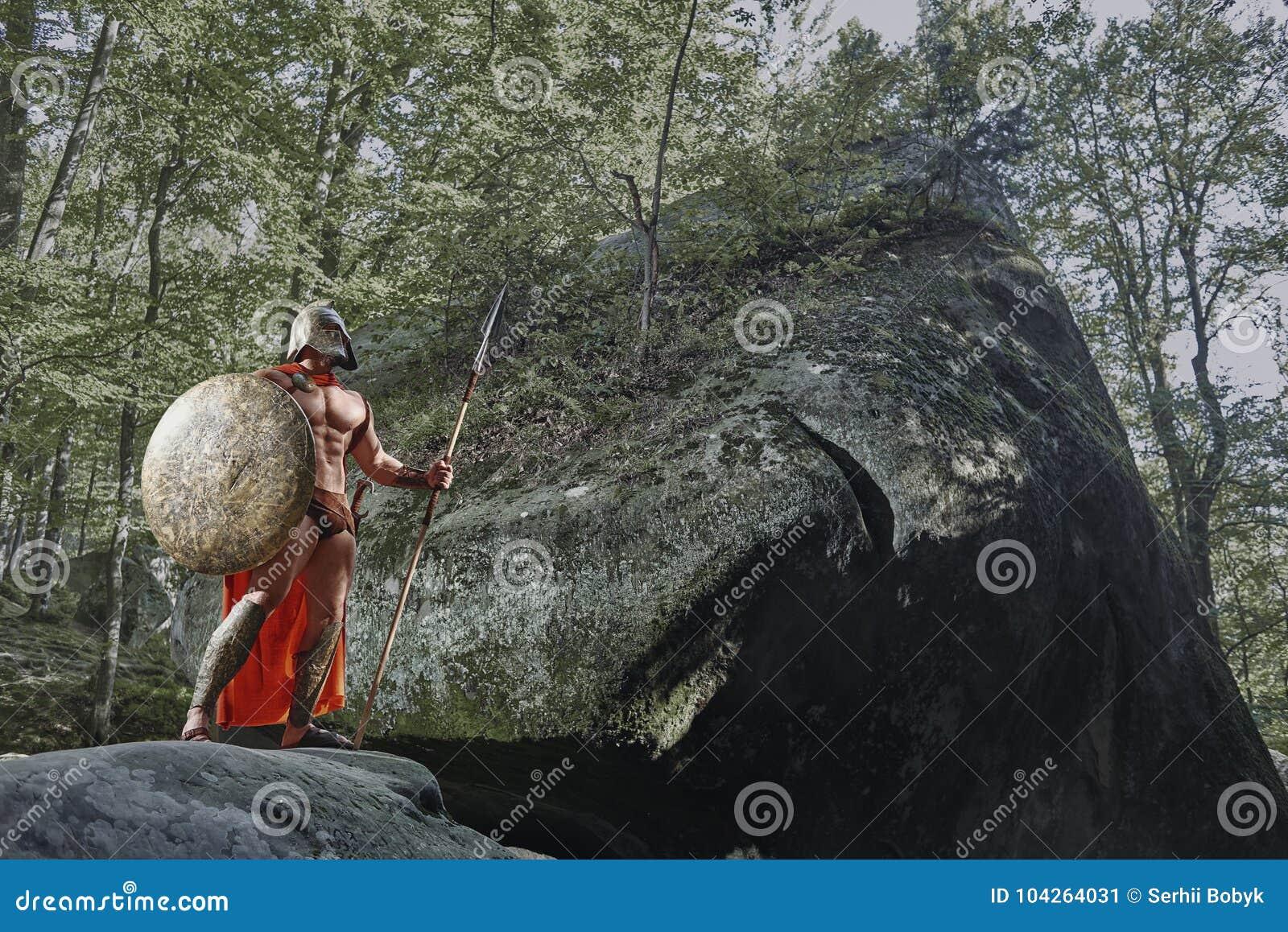 Spartansk krigare i träna